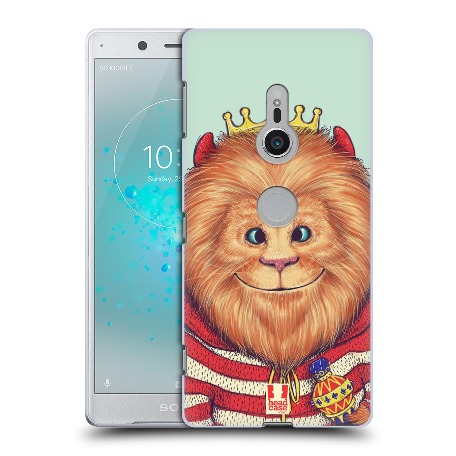 HEAD CASE plastový obal na mobil Sony Xperia XZ2 vzor Kreslená zvířátka lev