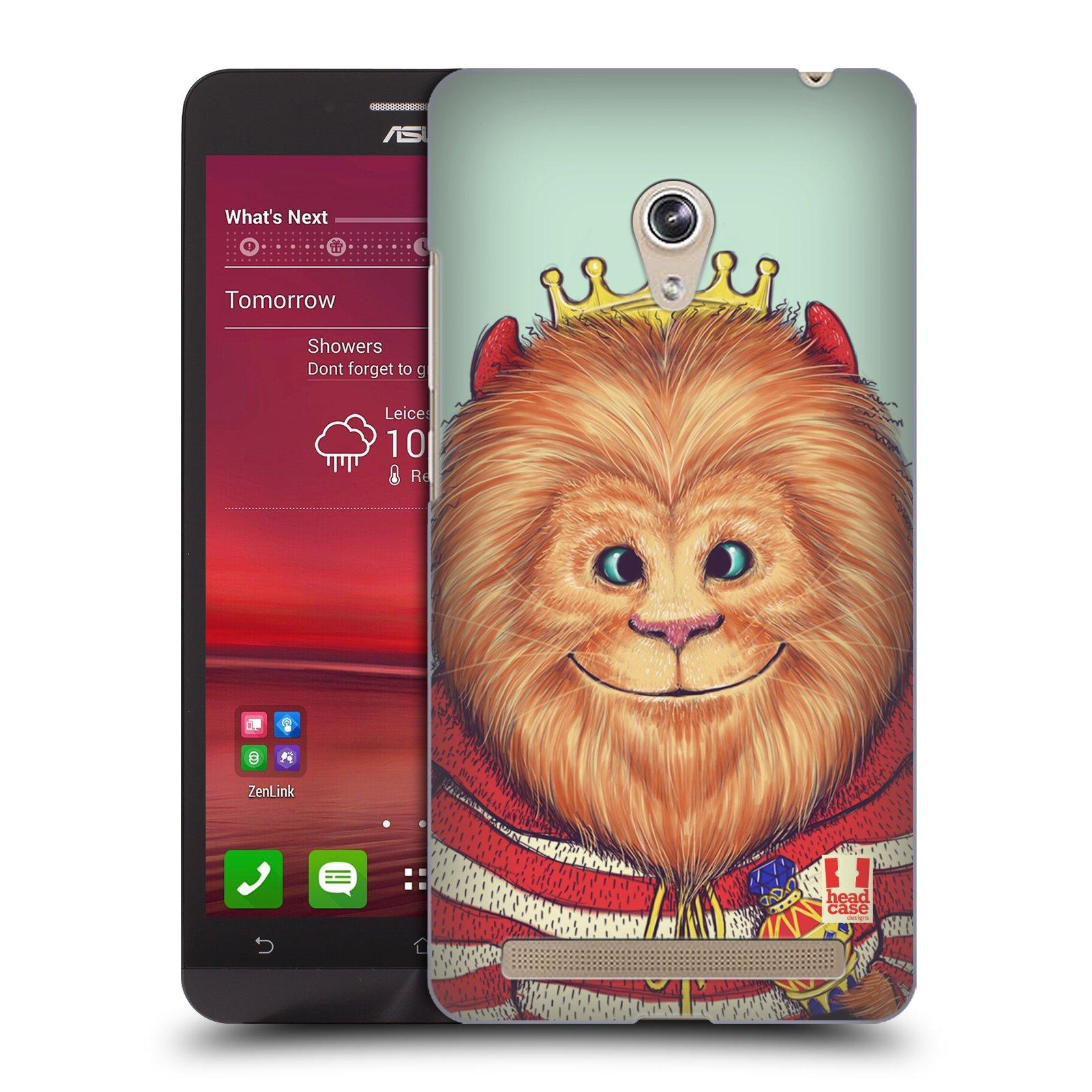 HEAD CASE plastový obal na mobil Asus Zenfone 6 vzor Kreslená zvířátka lev