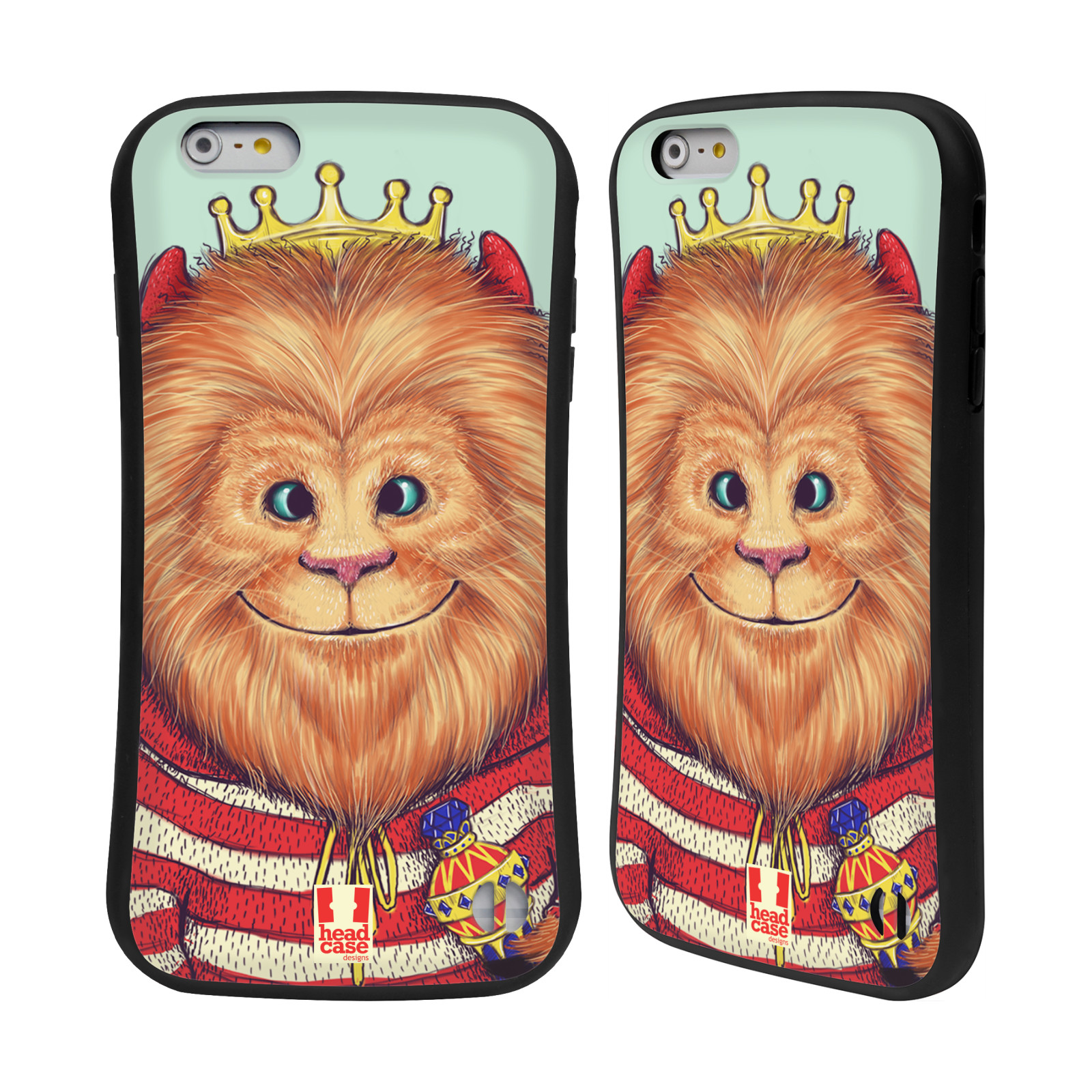 HEAD CASE silikon/plast odolný obal na mobil Apple Iphone 6 PLUS / 6S PLUS vzor Kreslená zvířátka lev
