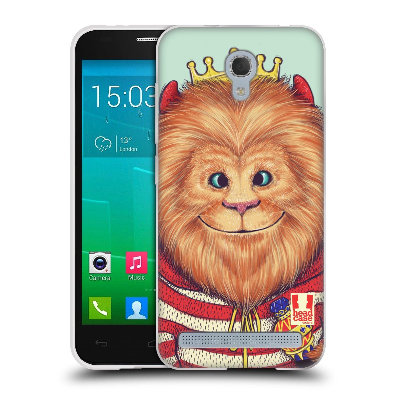 HEAD CASE silikonový obal na mobil Alcatel Idol 2 MINI S 6036Y vzor Kreslená zvířátka lev