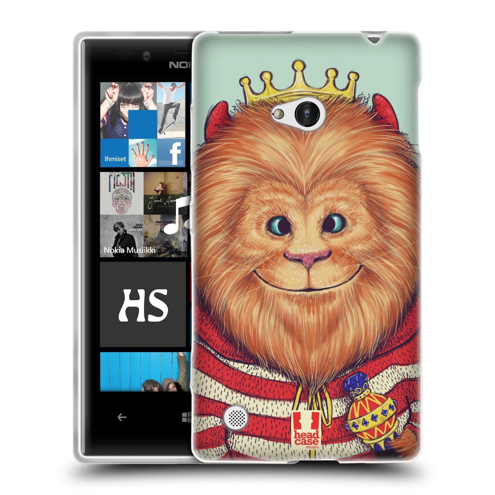 HEAD CASE silikonový obal na mobil NOKIA Lumia 720 vzor Kreslená zvířátka lev