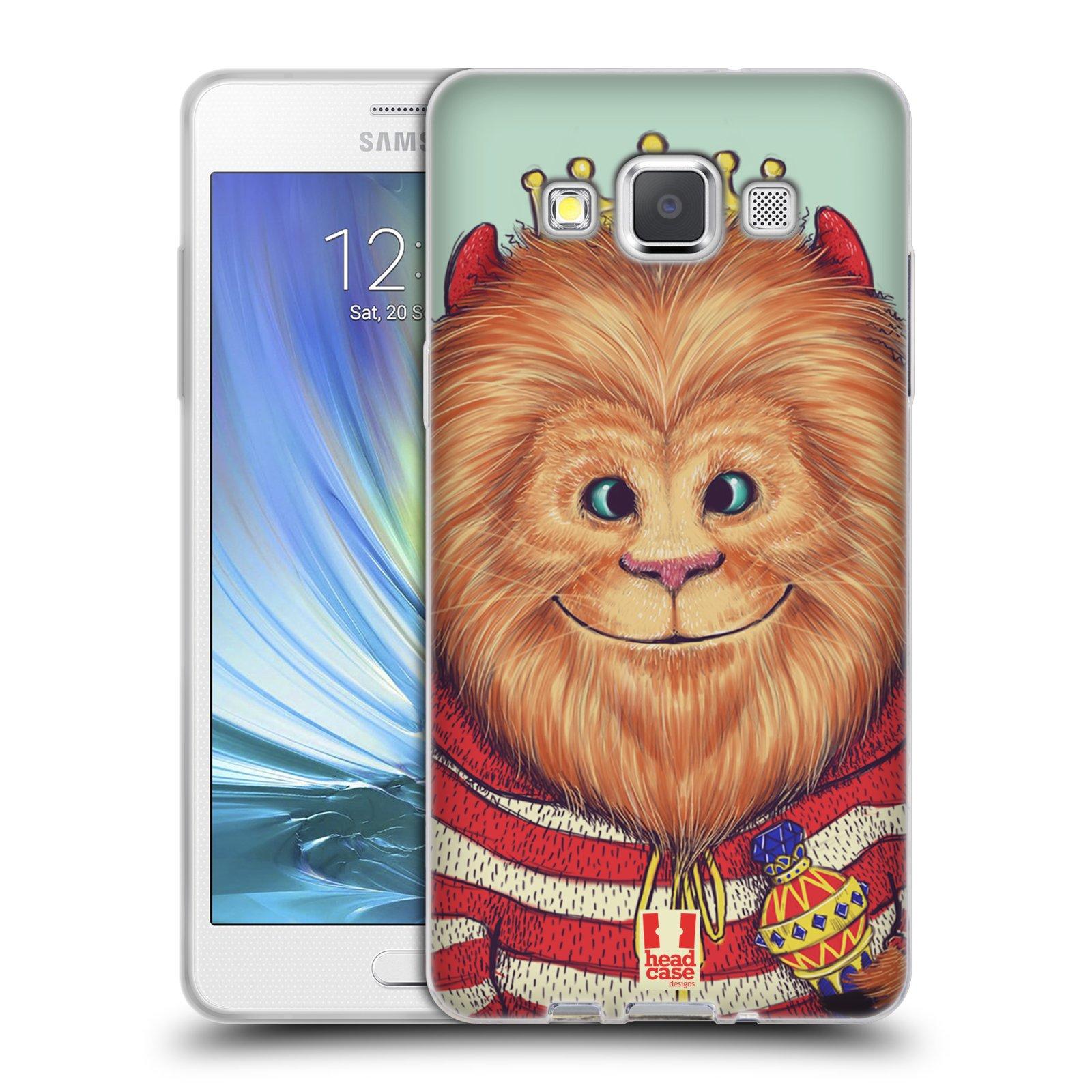 HEAD CASE silikonový obal na mobil Samsung Galaxy A5 vzor Kreslená zvířátka lev