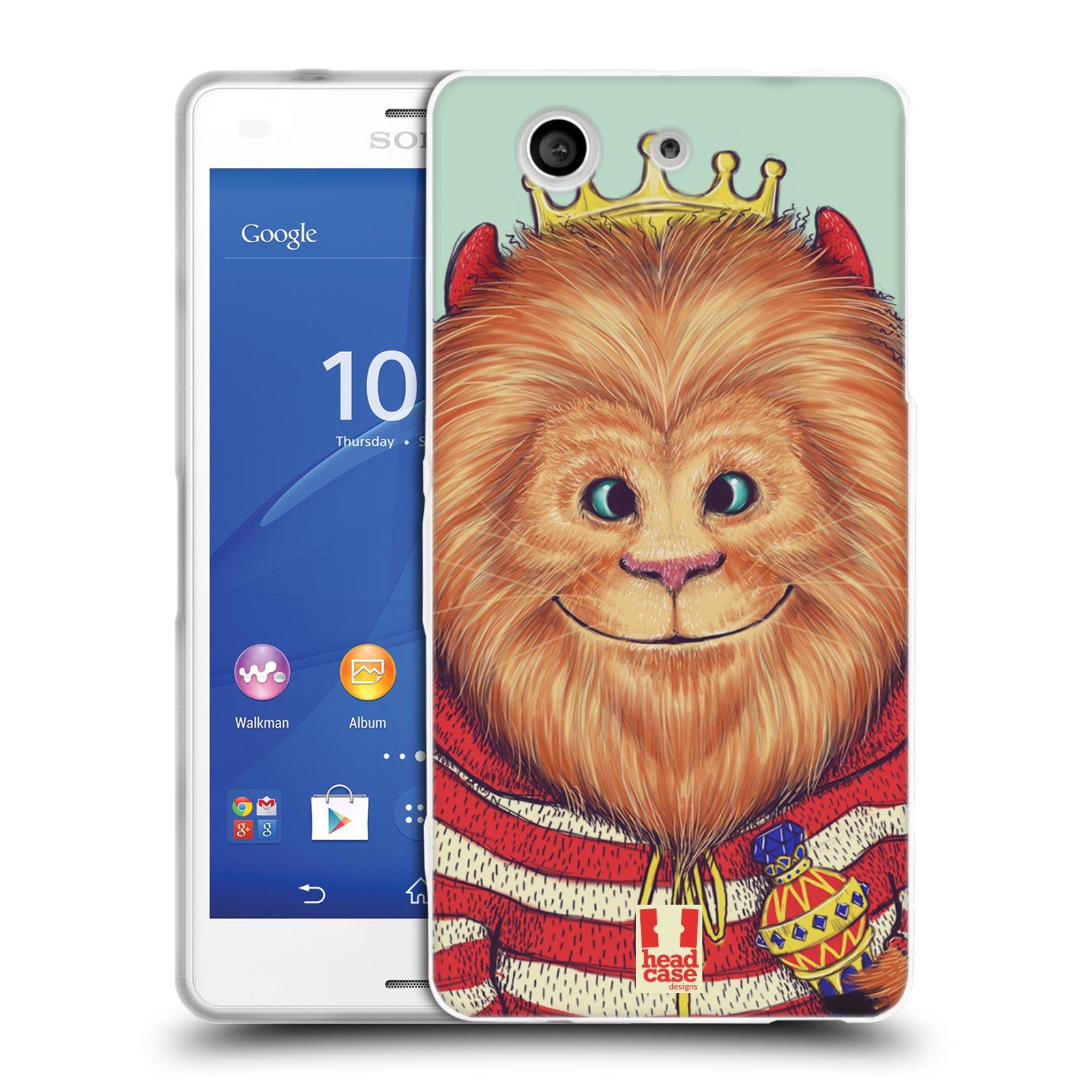 HEAD CASE silikonový obal na mobil Sony Xperia Z3 COMPACT (D5803) vzor Kreslená zvířátka lev