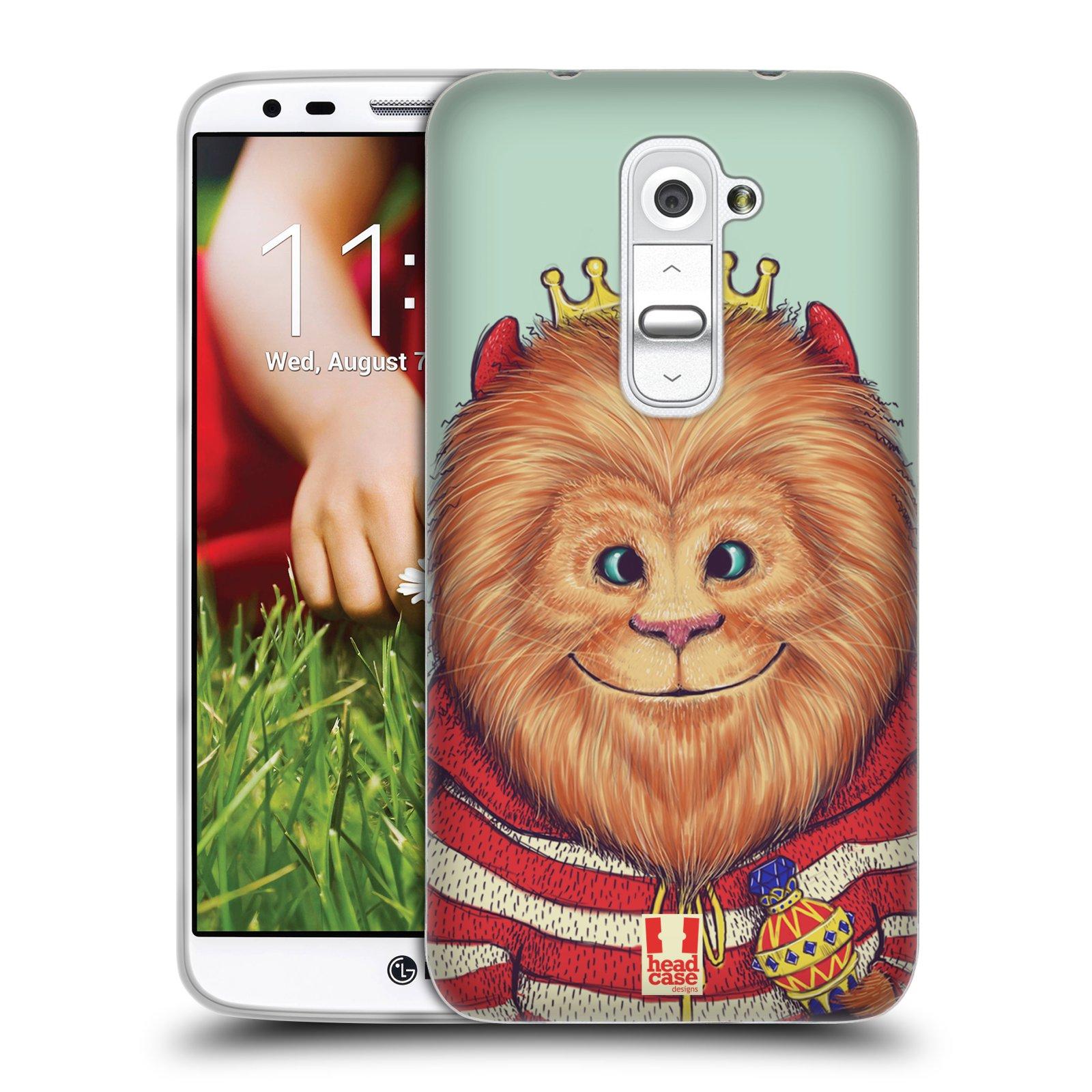 HEAD CASE silikonový obal na mobil LG G2 vzor Kreslená zvířátka lev