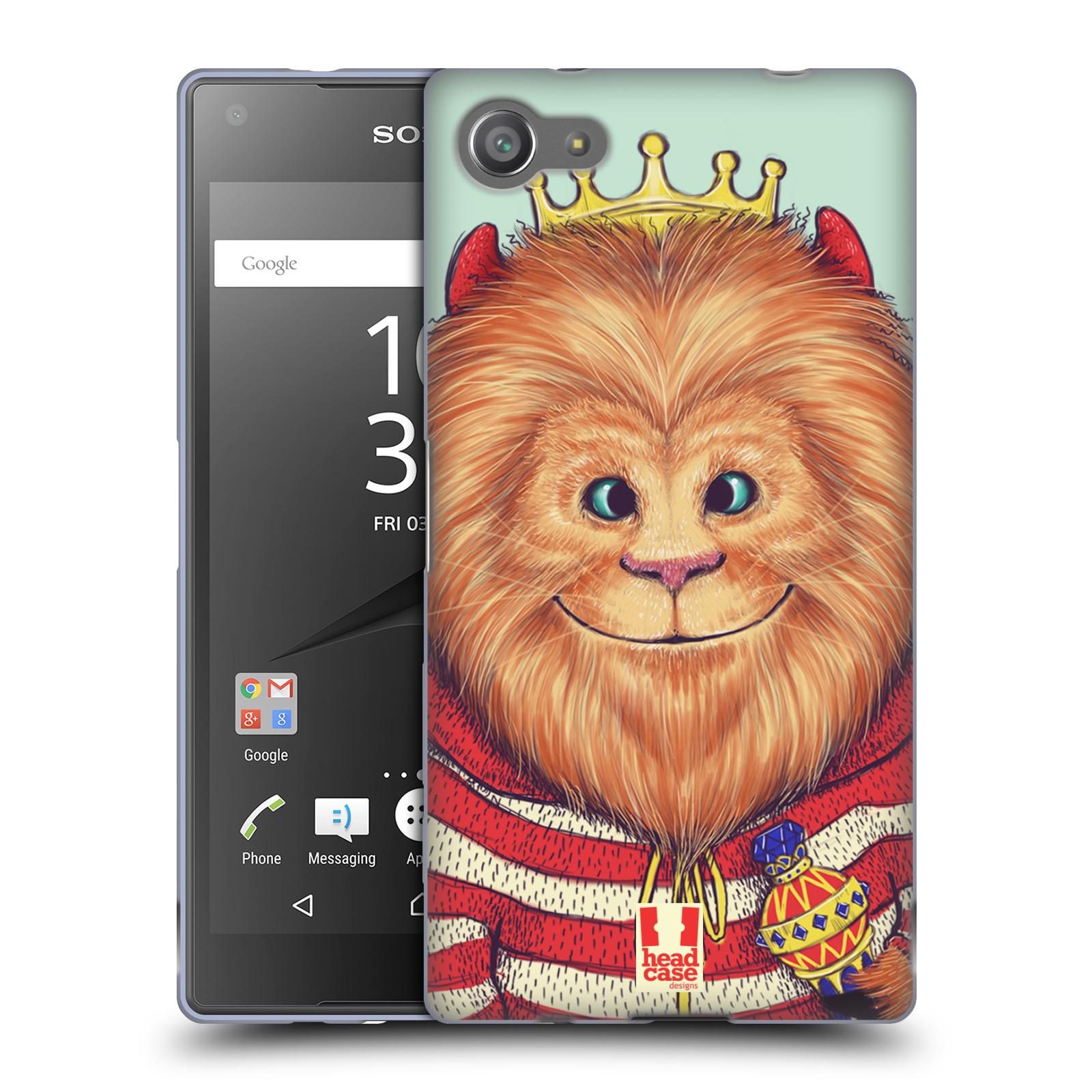 HEAD CASE silikonový obal na mobil Sony Xperia Z5 COMPACT vzor Kreslená zvířátka lev