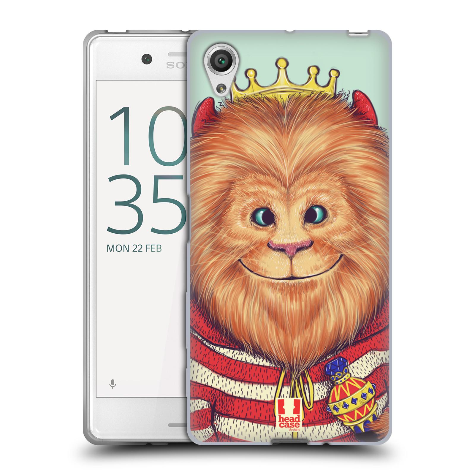 HEAD CASE silikonový obal na mobil Sony Xperia X / X DUAL vzor Kreslená zvířátka lev
