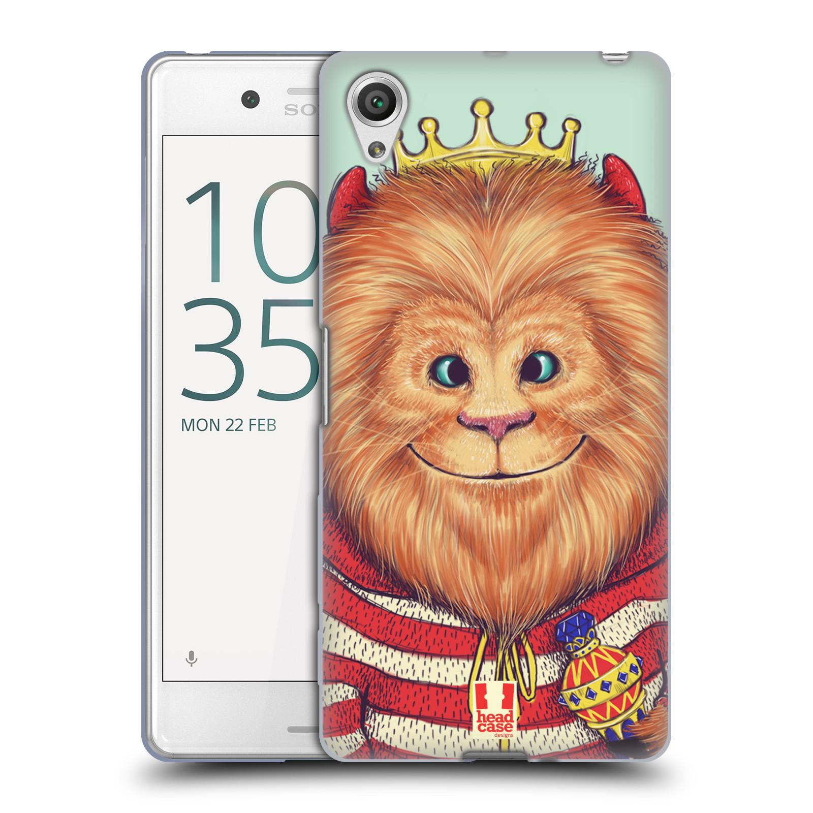 HEAD CASE silikonový obal na mobil Sony Xperia X PERFORMANCE (F8131, F8132) vzor Kreslená zvířátka lev