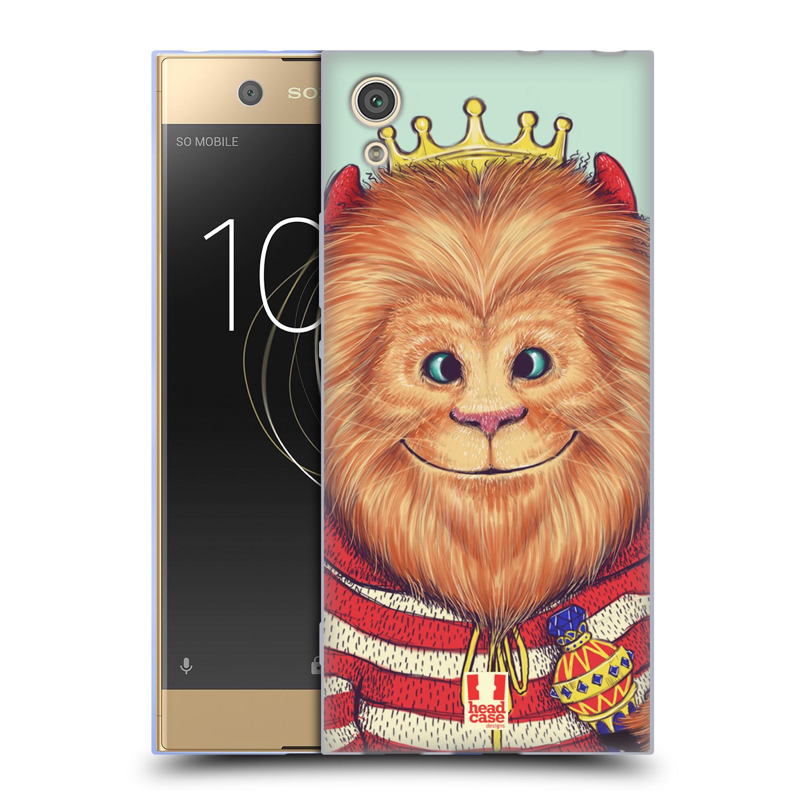 HEAD CASE silikonový obal na mobil Sony Xperia XA1 / XA1 DUAL SIM vzor Kreslená zvířátka lev