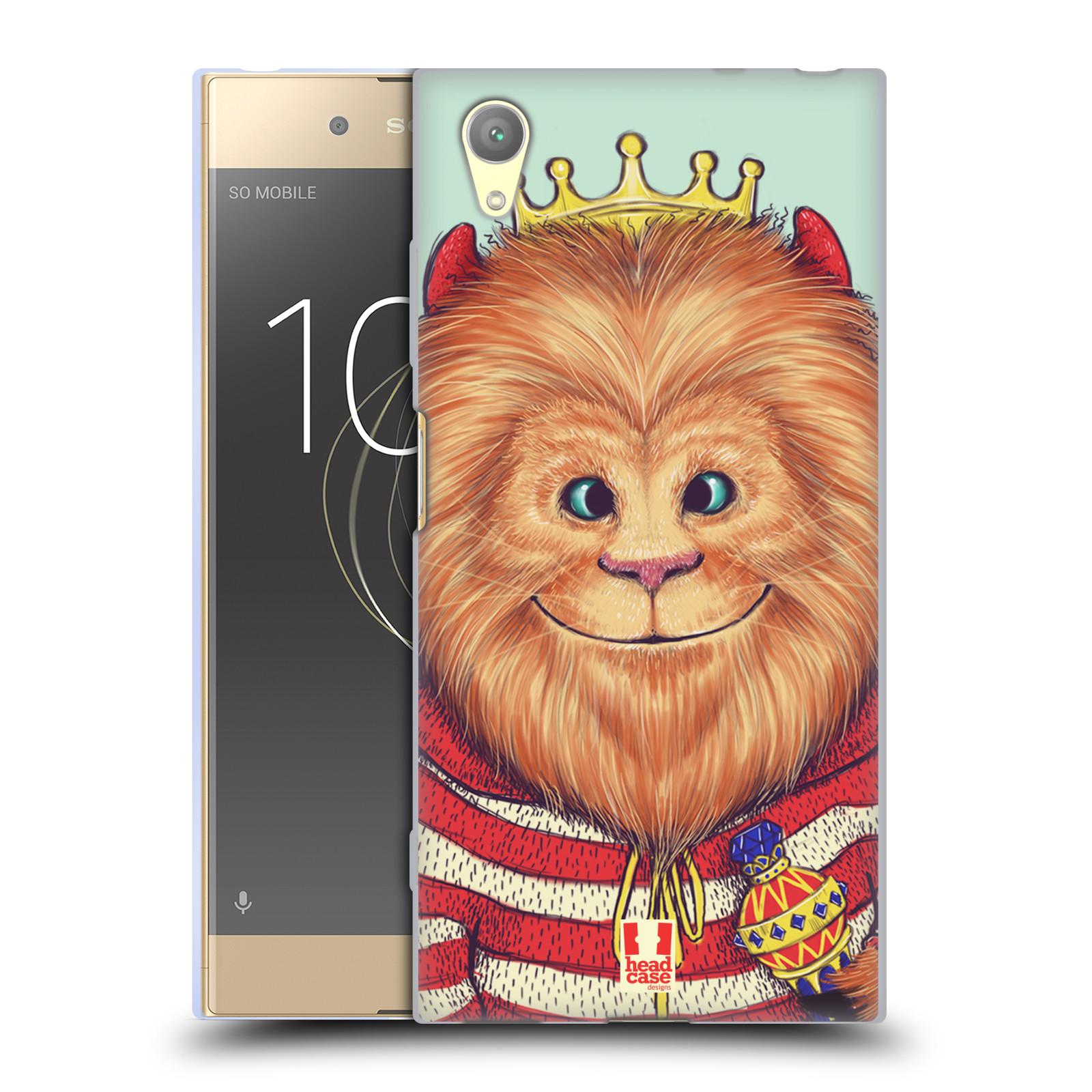 HEAD CASE silikonový obal na mobil Sony Xperia XA1 PLUS vzor Kreslená zvířátka lev