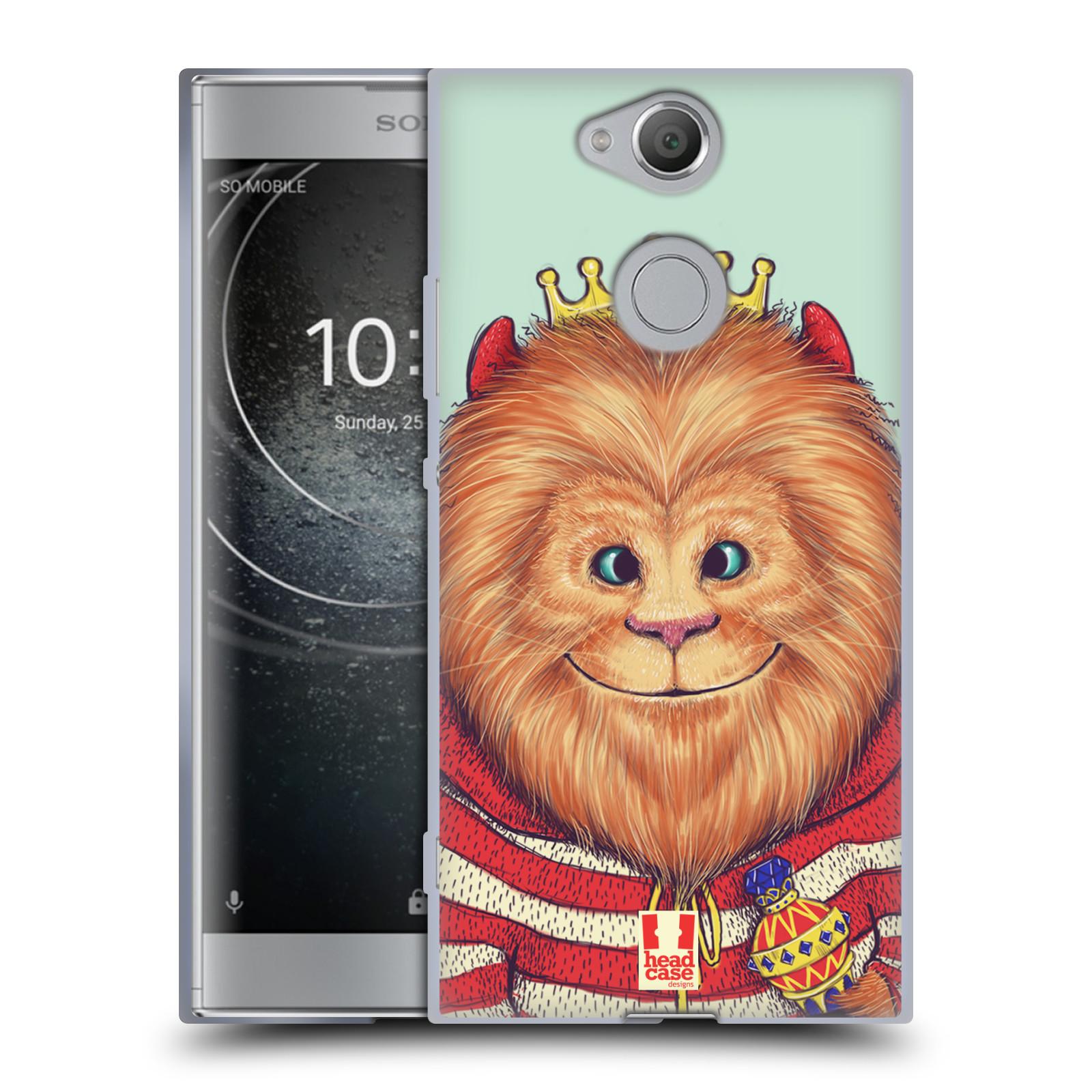 Pouzdro na mobil Sony Xperia XA2 (DUAL SIM, SINGLE SIM) vzor Kreslená zvířátka lev