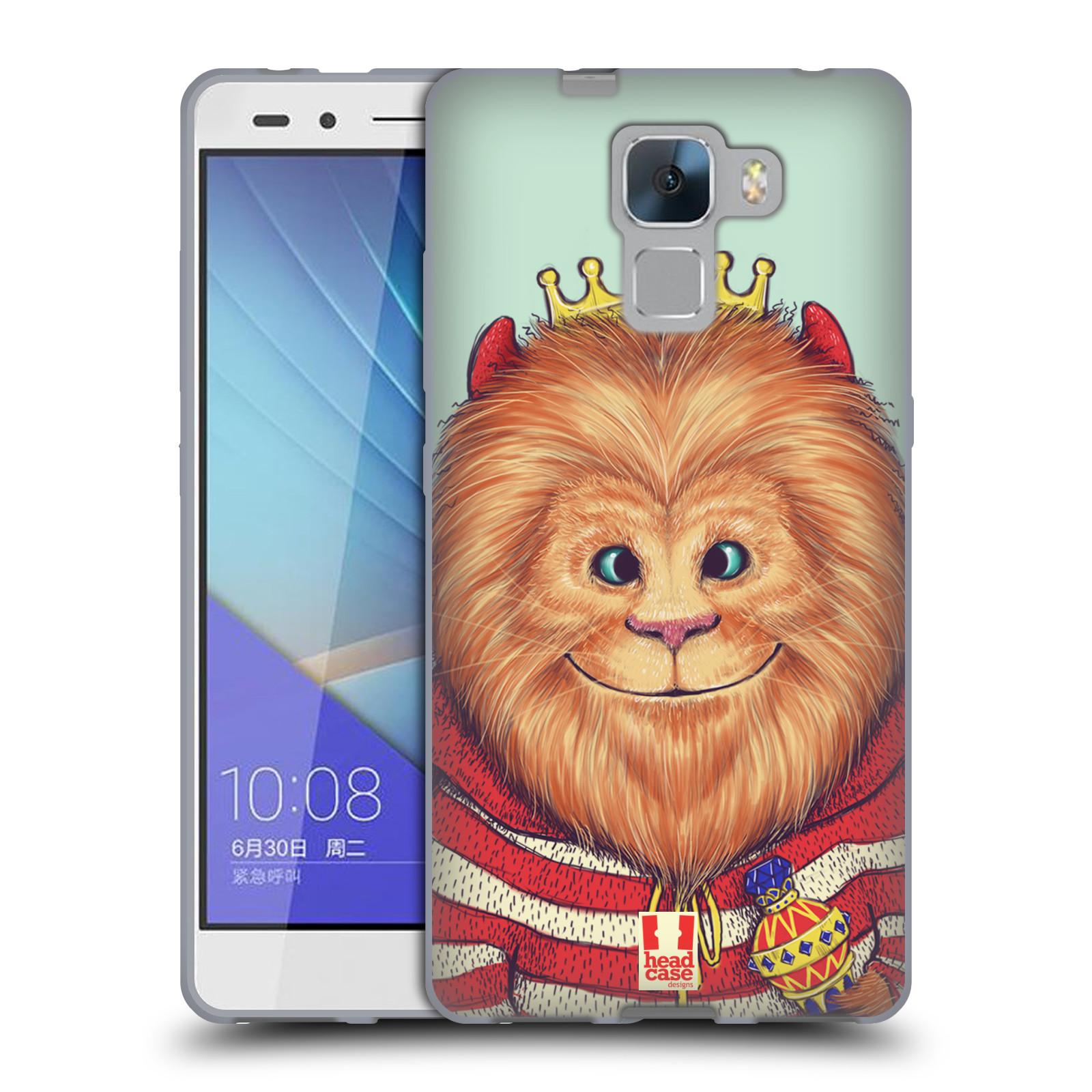 HEAD CASE silikonový obal na mobil HUAWEI HONOR 7 vzor Kreslená zvířátka lev