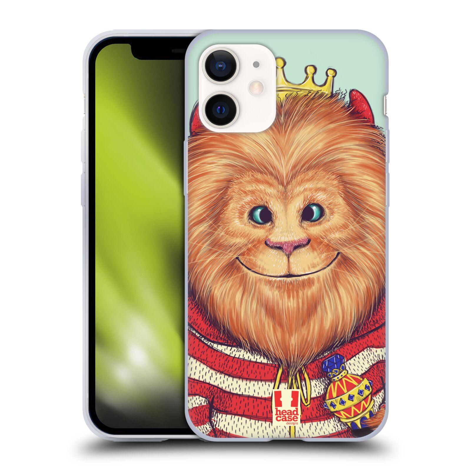 Plastový obal na mobil Apple Iphone 12 MINI vzor Kreslená zvířátka lev