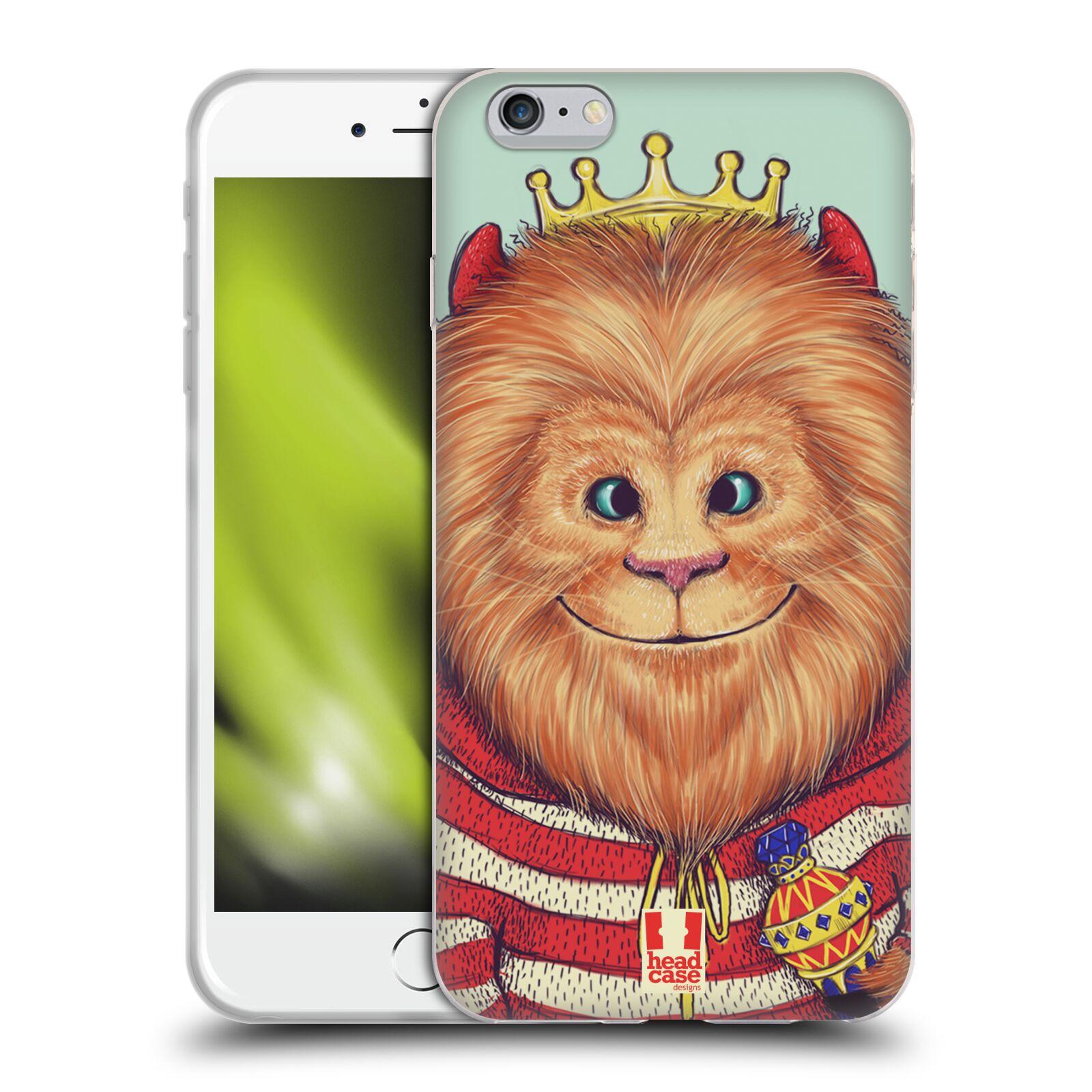 HEAD CASE silikonový obal na mobil Apple Iphone 6 PLUS/ 6S PLUS vzor Kreslená zvířátka lev