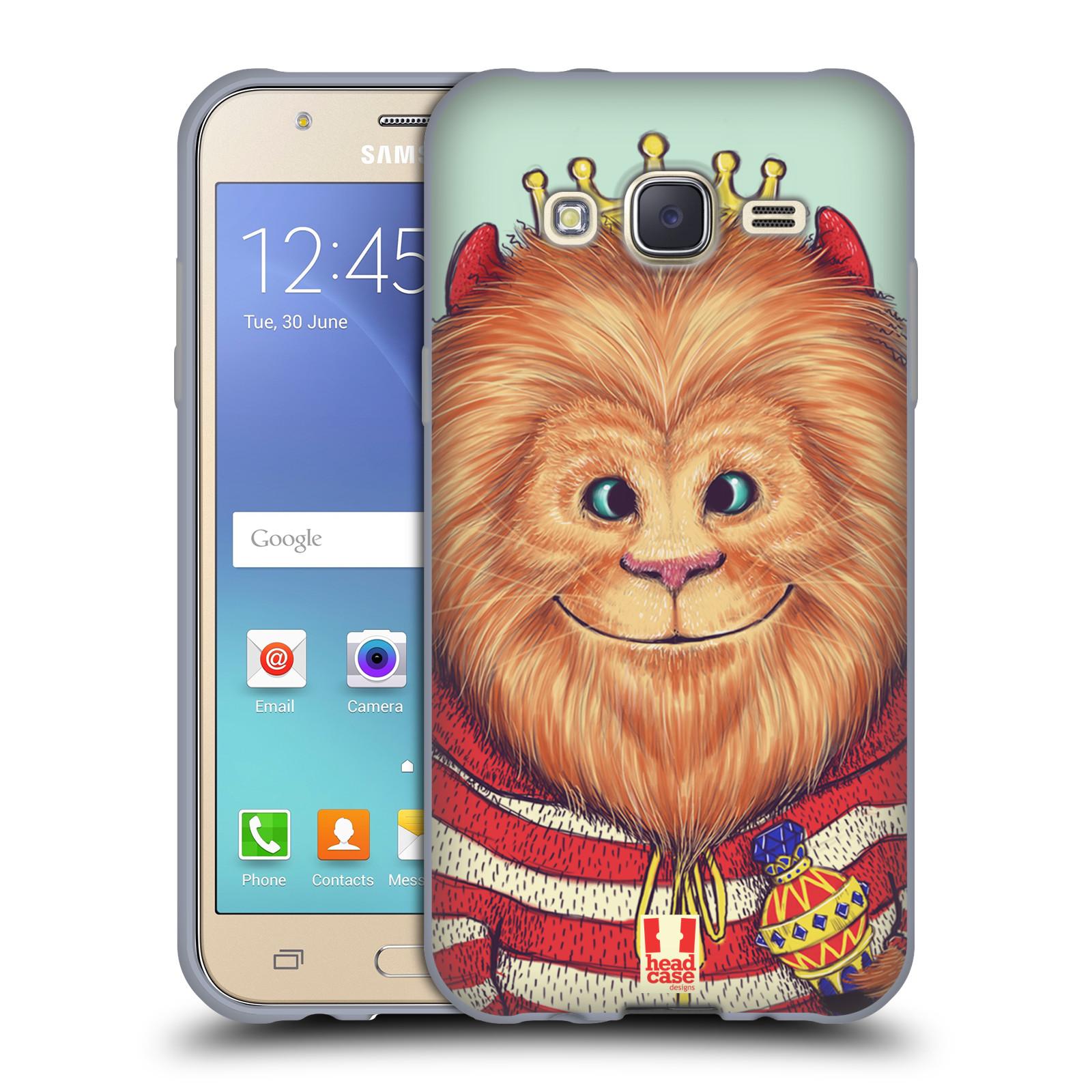 HEAD CASE silikonový obal na mobil Samsung Galaxy J5, J500, (J5 DUOS) vzor Kreslená zvířátka lev