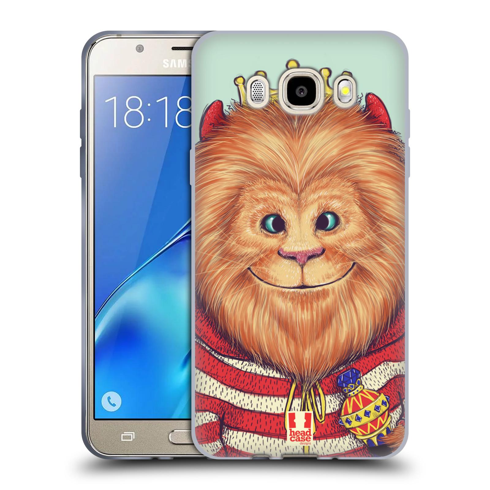 HEAD CASE silikonový obal, kryt na mobil Samsung Galaxy J5 2016, J510, J510F, (J510F DUAL SIM) vzor Kreslená zvířátka lev