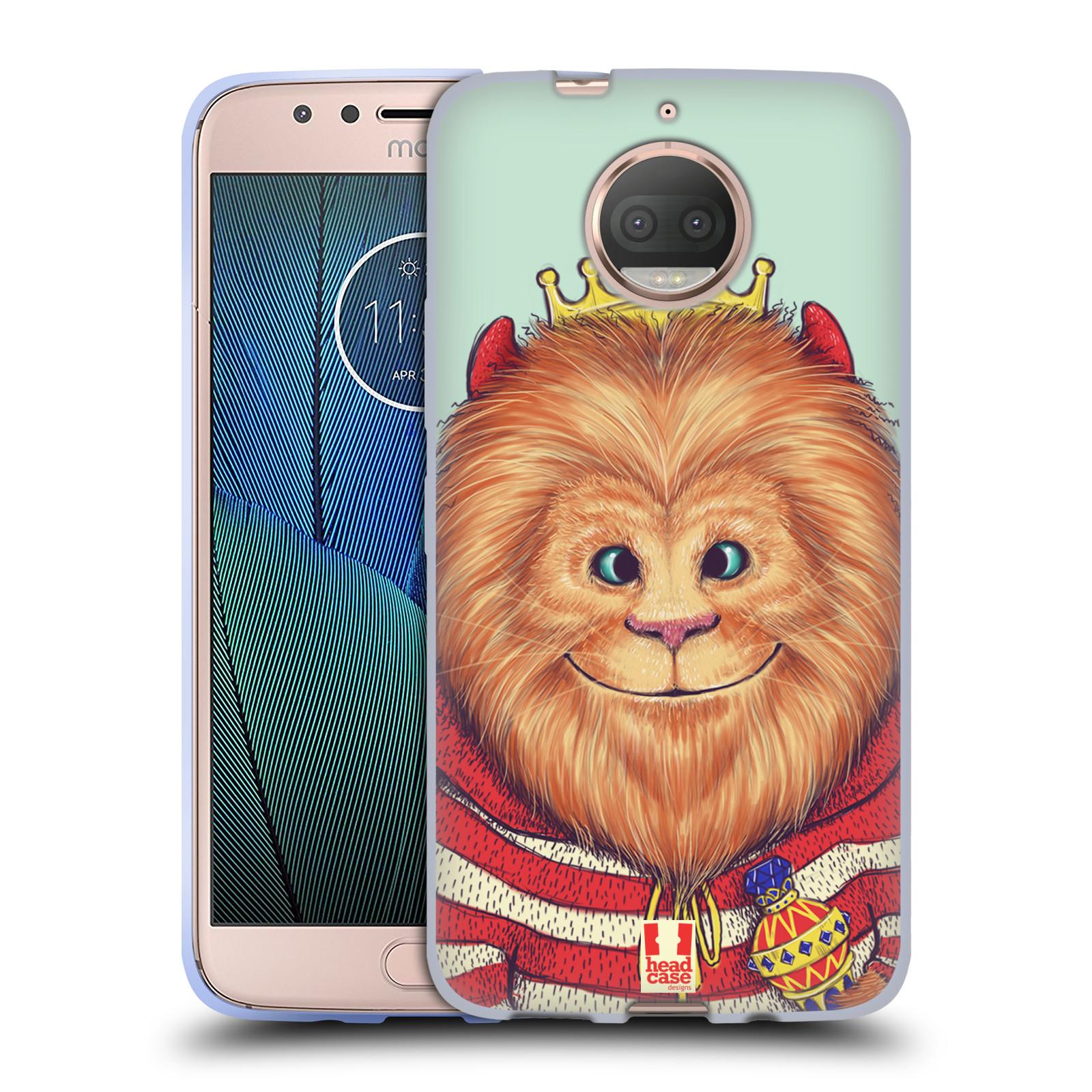 HEAD CASE silikonový obal na mobil Lenovo Moto G5s PLUS vzor Kreslená zvířátka lev