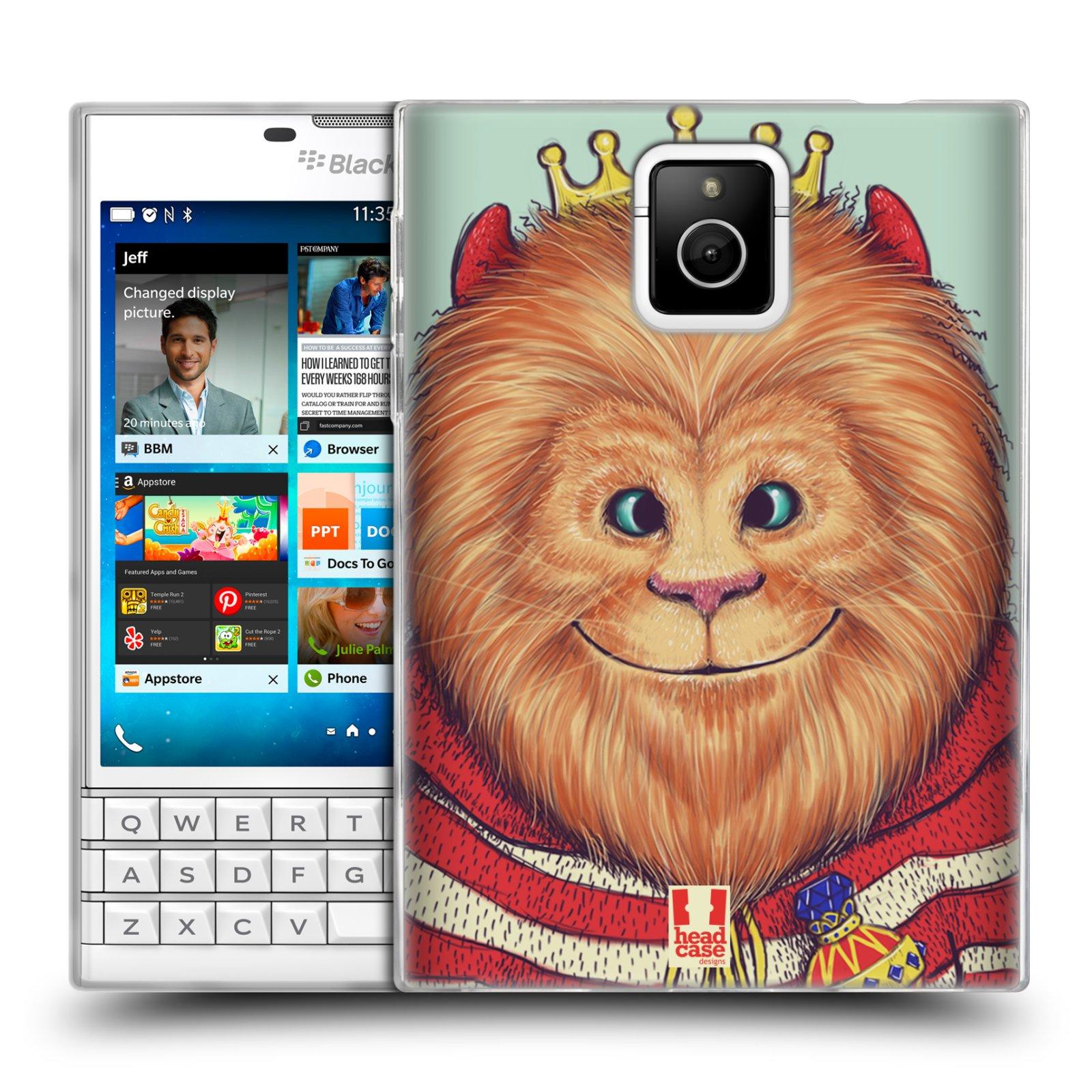 HEAD CASE silikonový obal na mobil Blackberry PASSPORT vzor Kreslená zvířátka lev