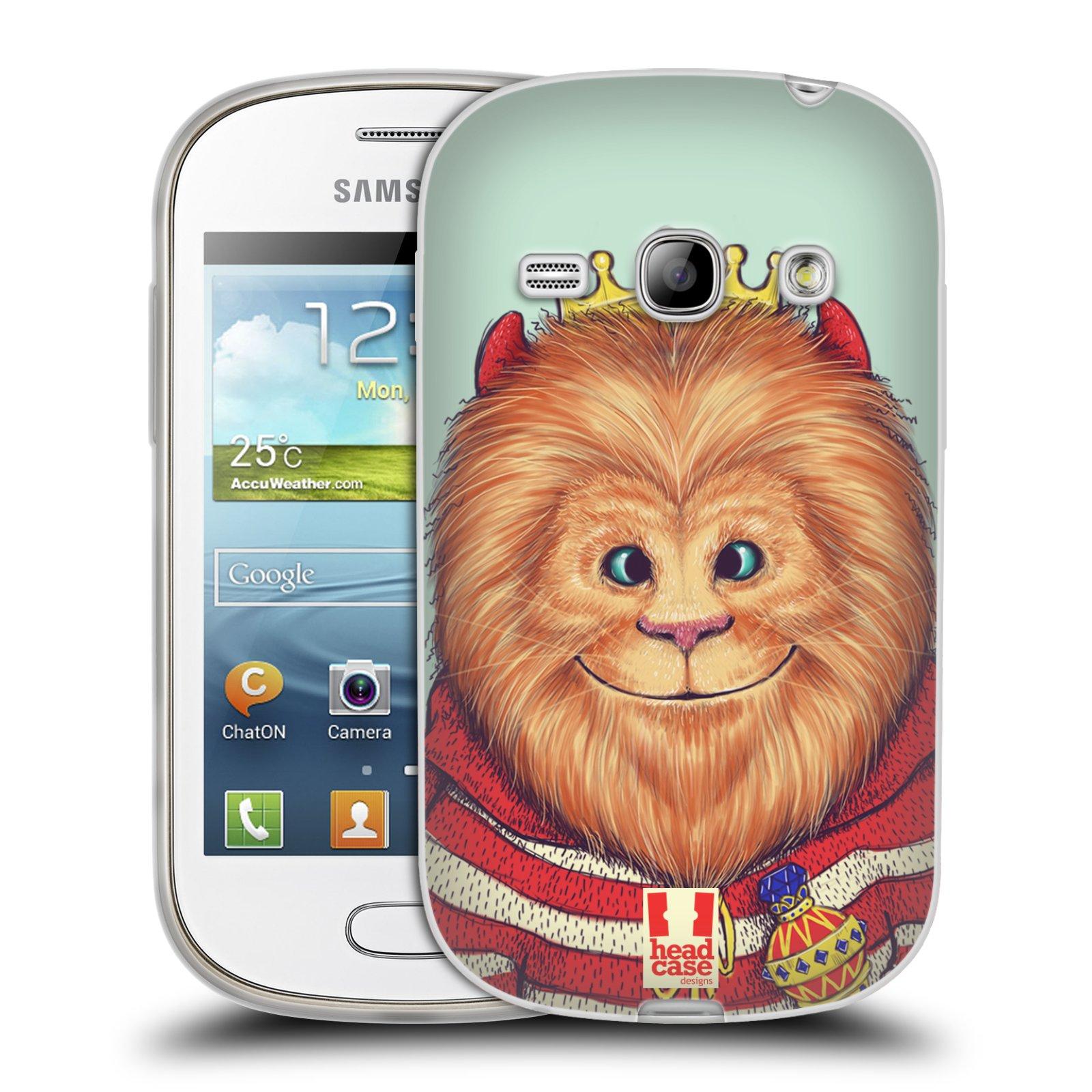 HEAD CASE silikonový obal na mobil Samsung Galaxy FAME vzor Kreslená zvířátka lev