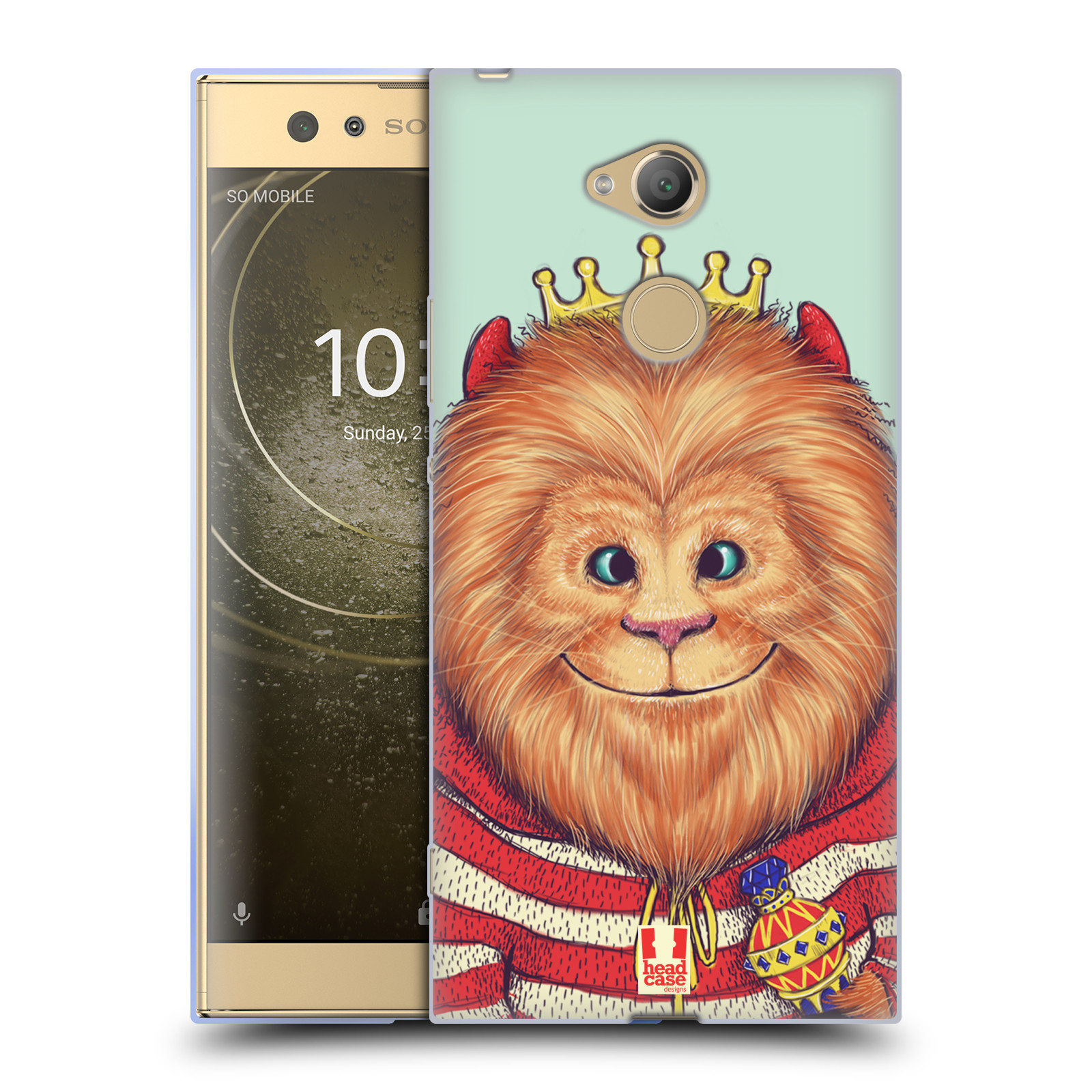 Pouzdro na mobil Sony Xperia XA2 Ultra vzor Kreslená zvířátka lev