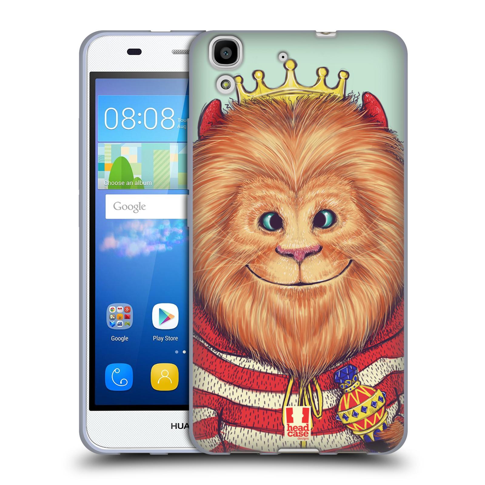 HEAD CASE silikonový obal na mobil HUAWEI Y6 vzor Kreslená zvířátka lev