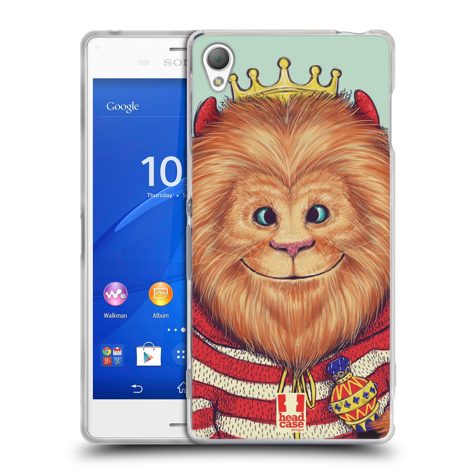 HEAD CASE silikonový obal na mobil Sony Xperia Z3 vzor Kreslená zvířátka lev
