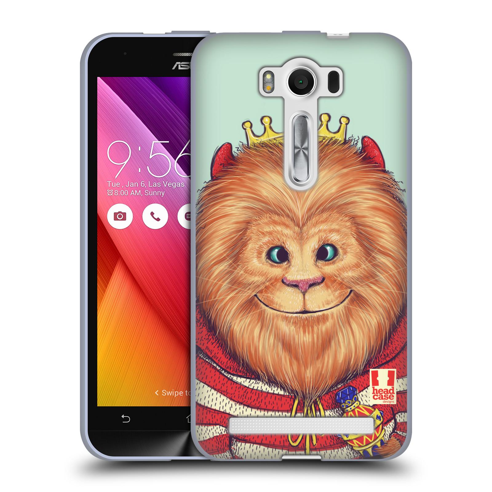 "HEAD CASE silikonový obal na mobil Asus Zenfone 2 LASER (ZE500KL s 5"" displejem) vzor Kreslená zvířátka lev"