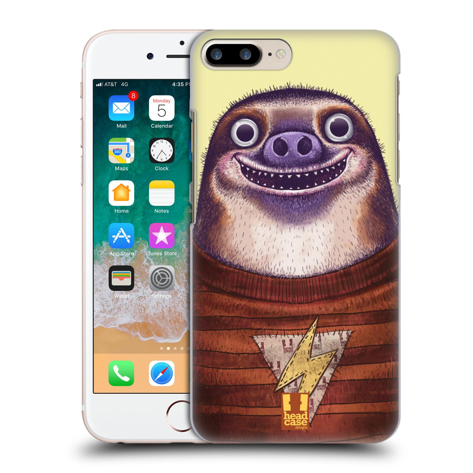 HEAD CASE plastový obal na mobil Apple Iphone 7 PLUS vzor Kreslená zvířátka lenochod