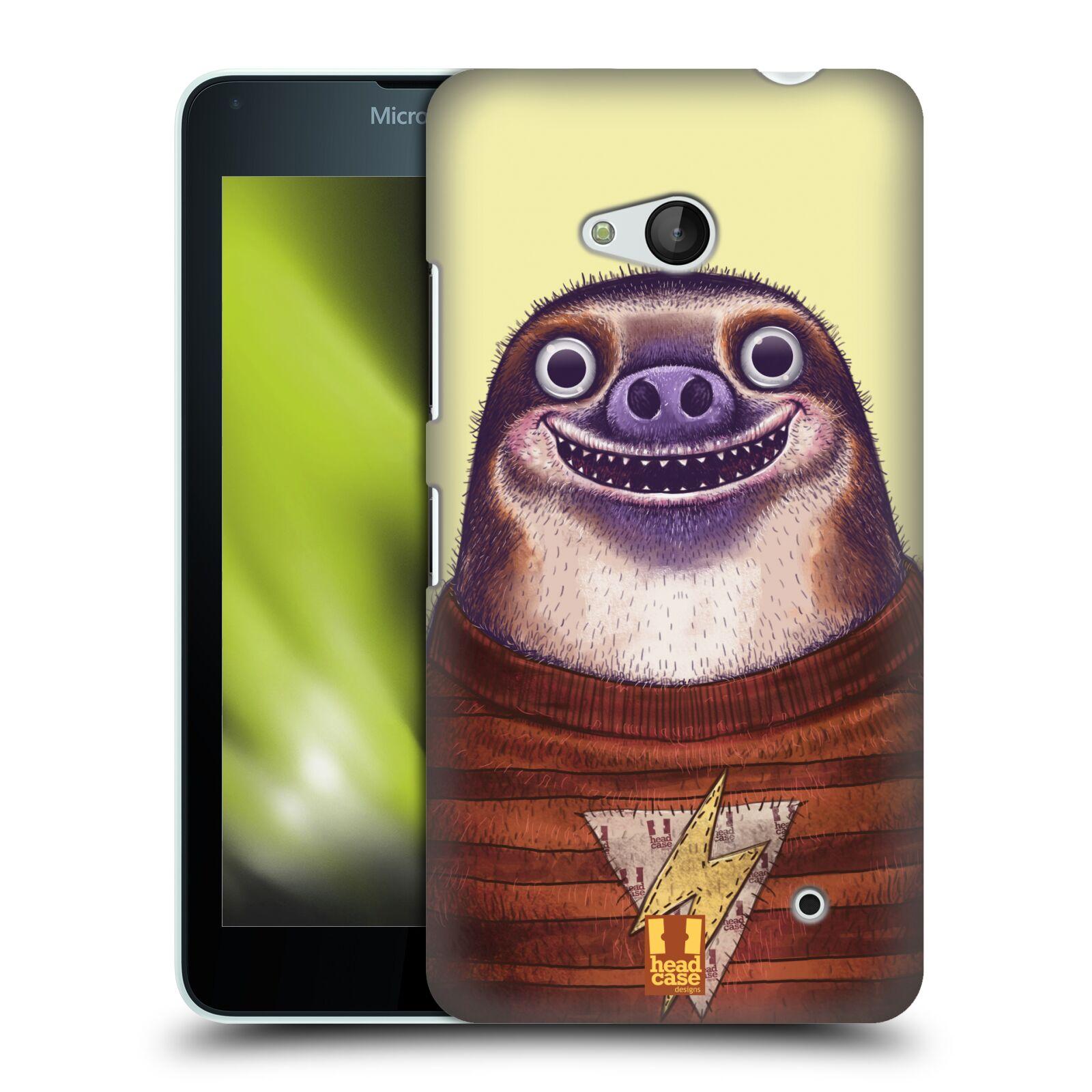 HEAD CASE plastový obal na mobil Nokia Lumia 640 vzor Kreslená zvířátka lenochod