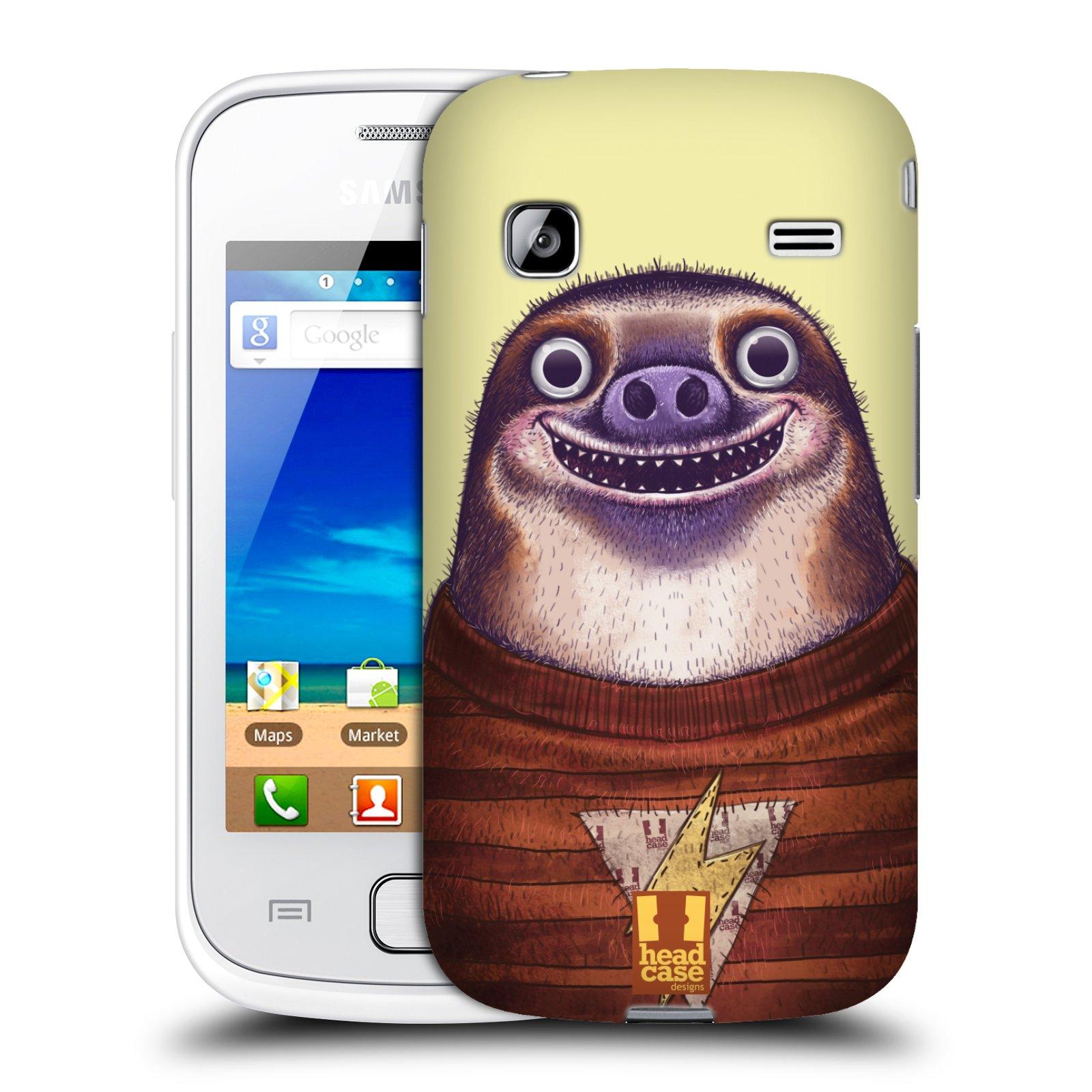 HEAD CASE plastový obal na mobil SAMSUNG GALAXY GIO (S5660) vzor Kreslená zvířátka lenochod