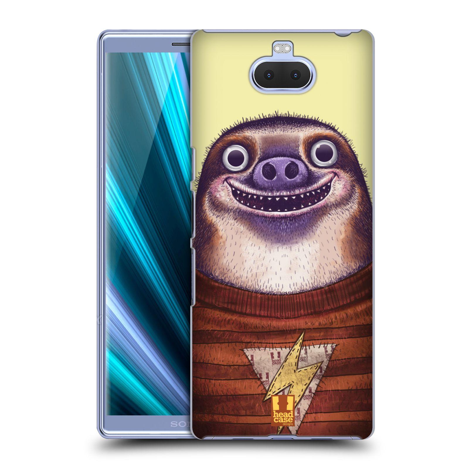Pouzdro na mobil Sony Xperia 10 - Head Case - vzor Kreslená zvířátka lenochod