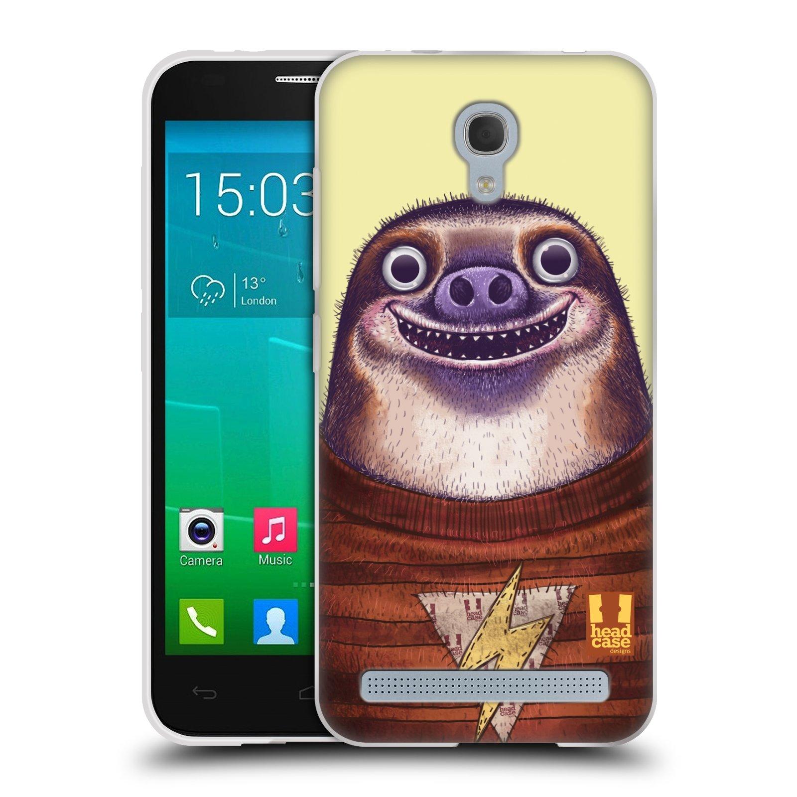 HEAD CASE silikonový obal na mobil Alcatel Idol 2 MINI S 6036Y vzor Kreslená zvířátka lenochod