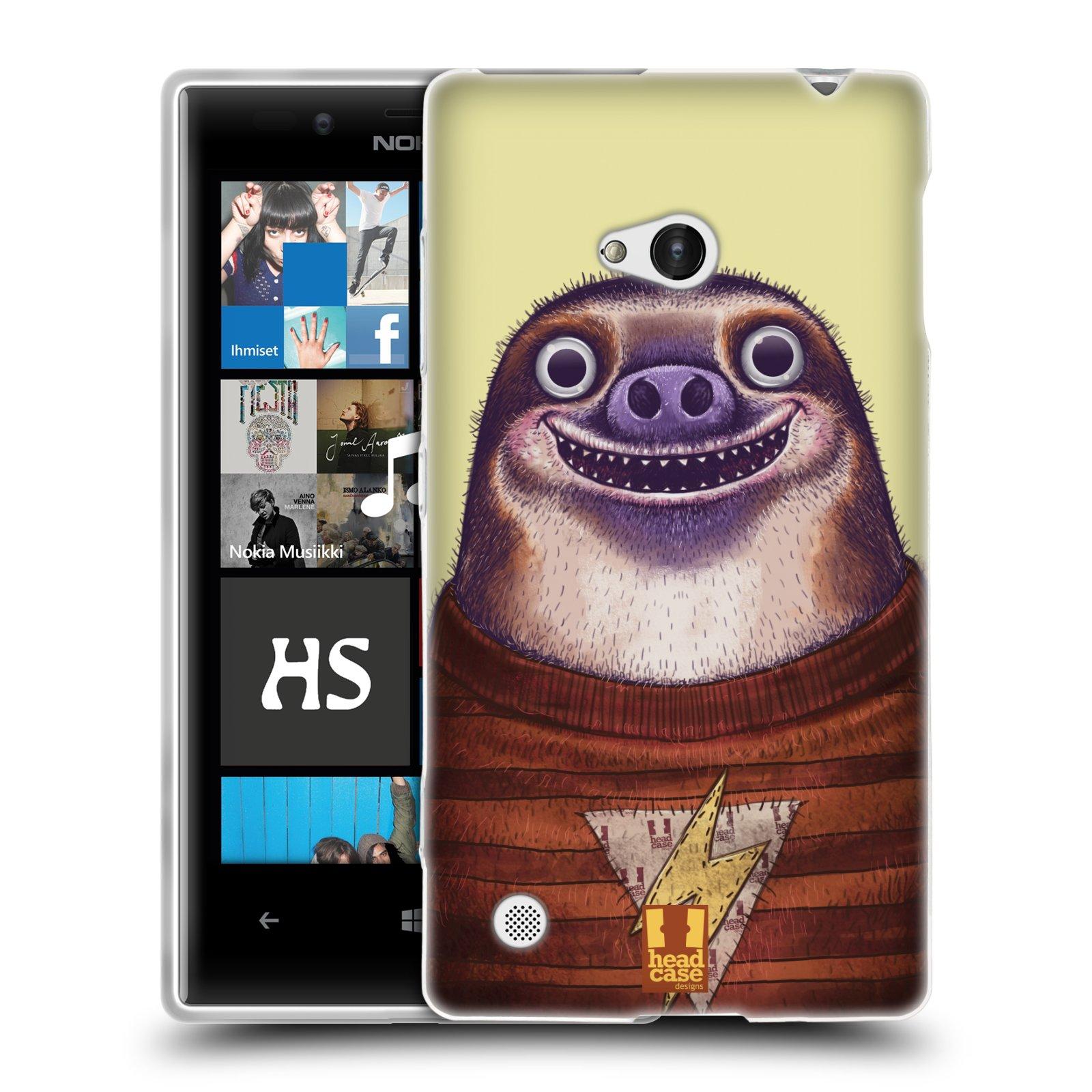 HEAD CASE silikonový obal na mobil NOKIA Lumia 720 vzor Kreslená zvířátka lenochod