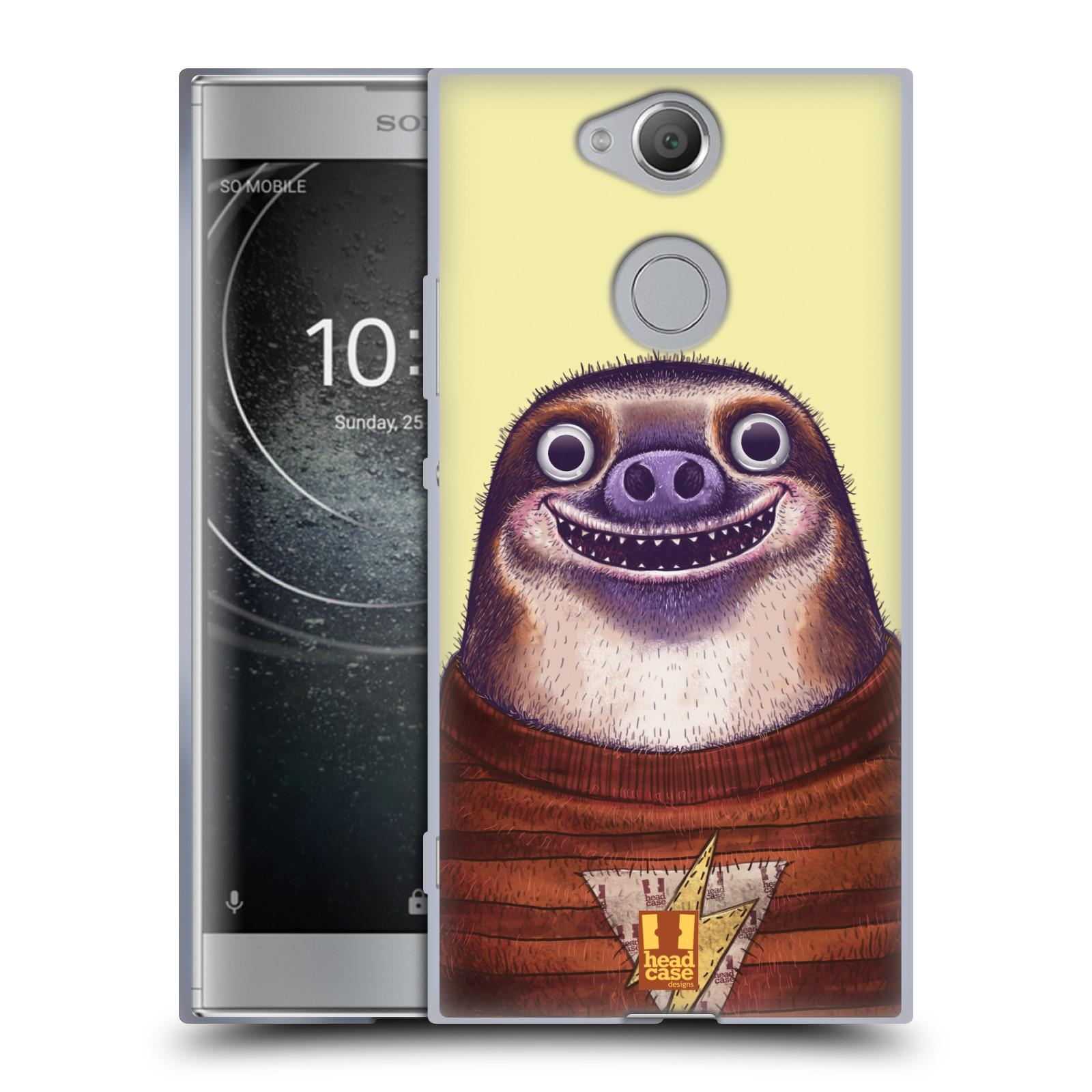 Pouzdro na mobil Sony Xperia XA2 (DUAL SIM, SINGLE SIM) vzor Kreslená zvířátka lenochod