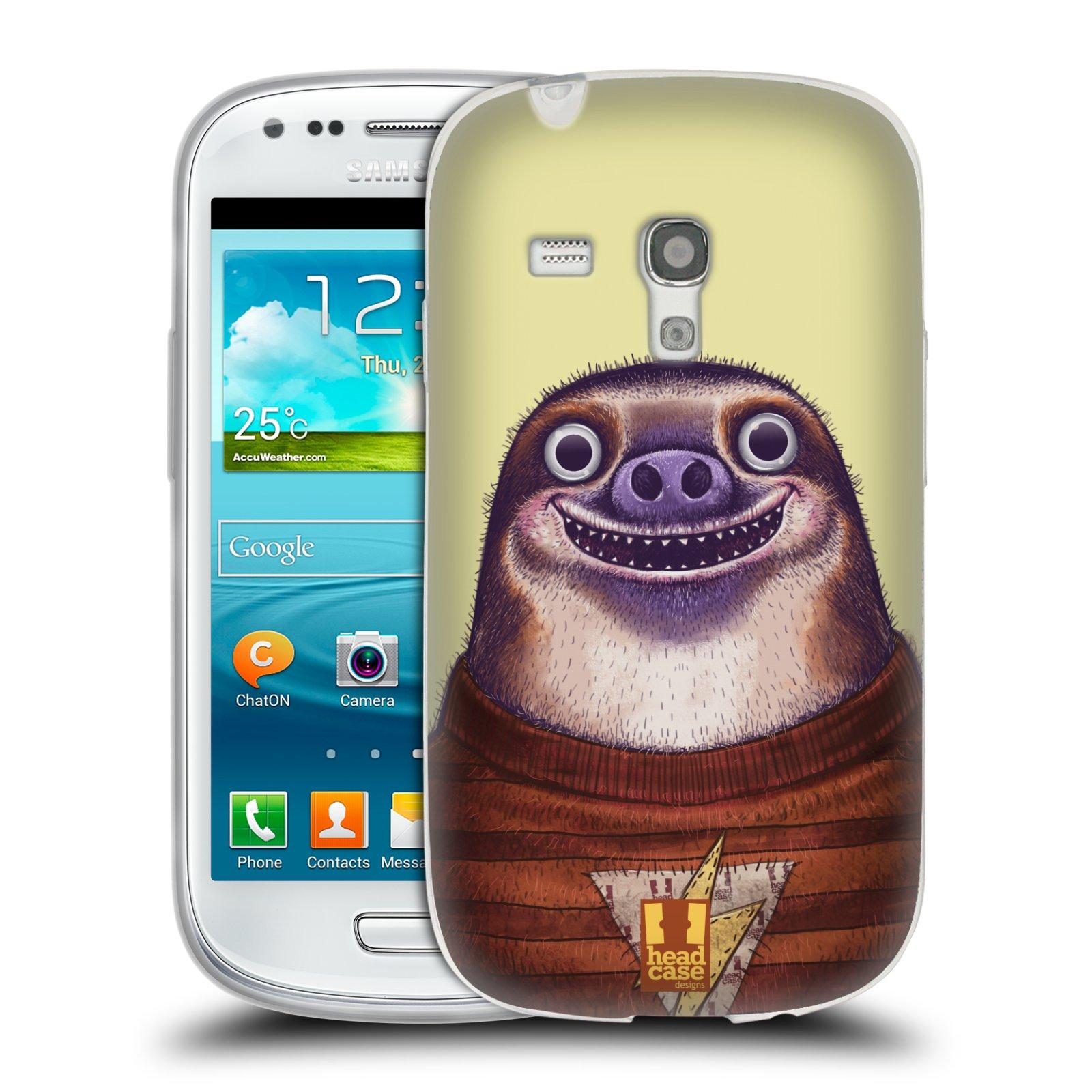 HEAD CASE silikonový obal na mobil Samsung Galaxy S3 MINI i8190 vzor Kreslená zvířátka lenochod
