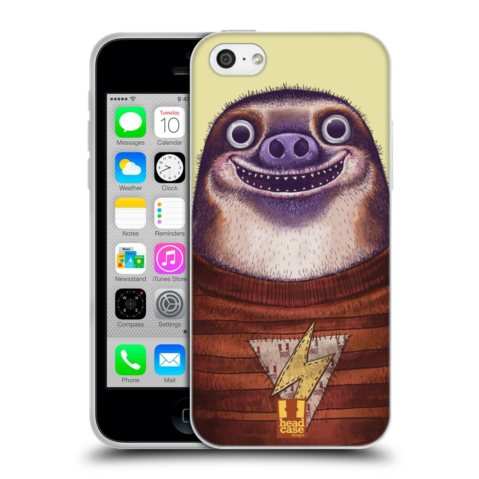 HEAD CASE silikonový obal na mobil Apple Iphone 5C vzor Kreslená zvířátka lenochod