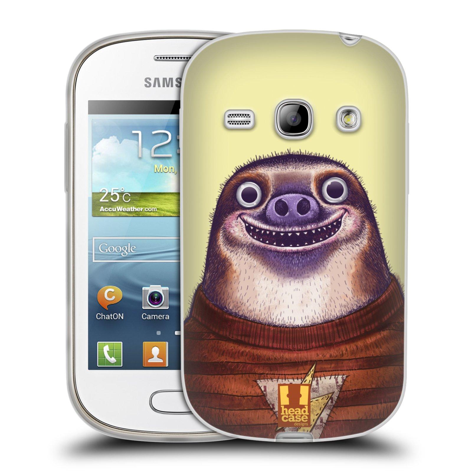 HEAD CASE silikonový obal na mobil Samsung Galaxy FAME vzor Kreslená zvířátka lenochod