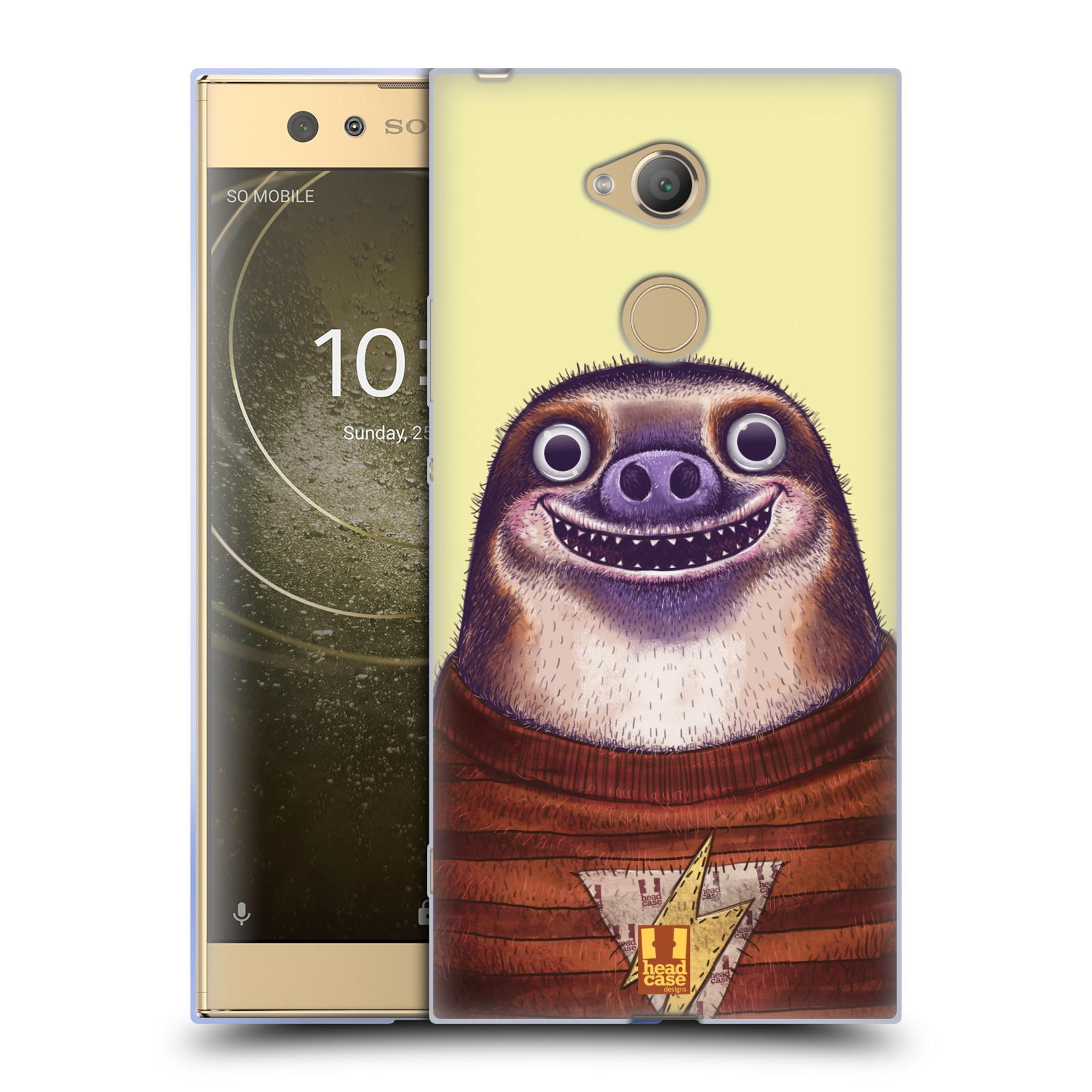 Pouzdro na mobil Sony Xperia XA2 Ultra vzor Kreslená zvířátka lenochod