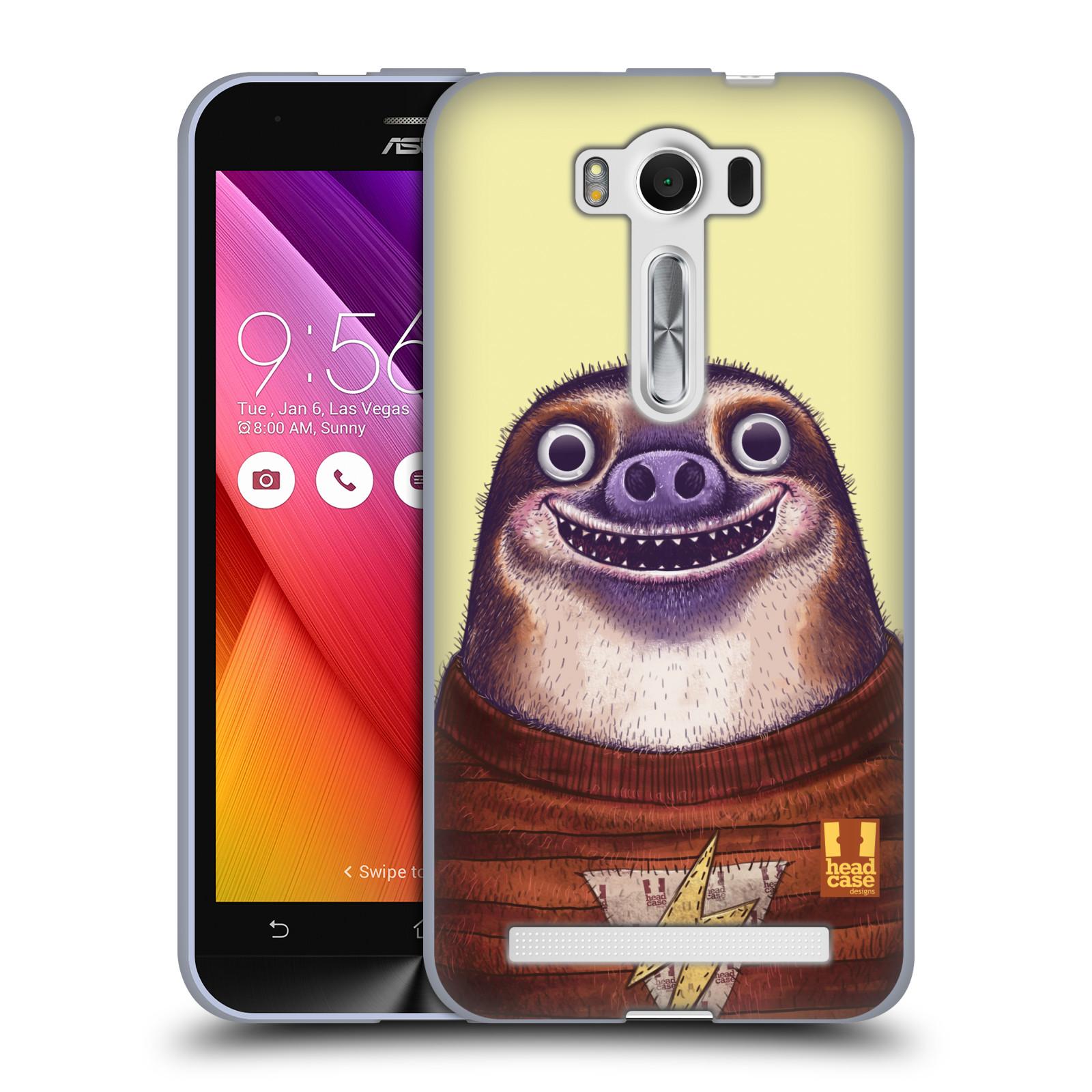 """HEAD CASE silikonový obal na mobil Asus Zenfone 2 LASER (ZE500KL s 5"""" displejem) vzor Kreslená zvířátka lenochod"""
