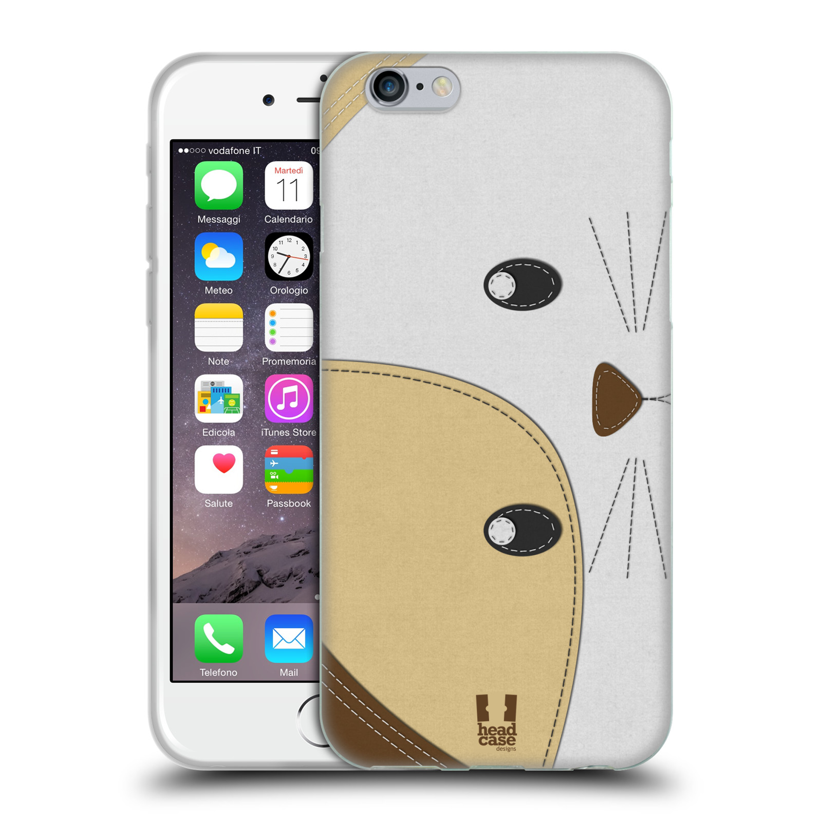 HEAD CASE DESIGNS ANIMAL PATCHES SERIES 1 SOFT GEL CASE FOR APPLE iPHONE PHONES