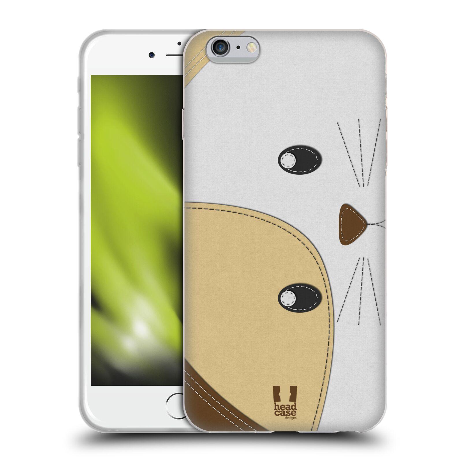 HEAD CASE silikonový obal na mobil Apple Iphone 6 PLUS/ 6S PLUS vzor zvířecí nášivka kočka