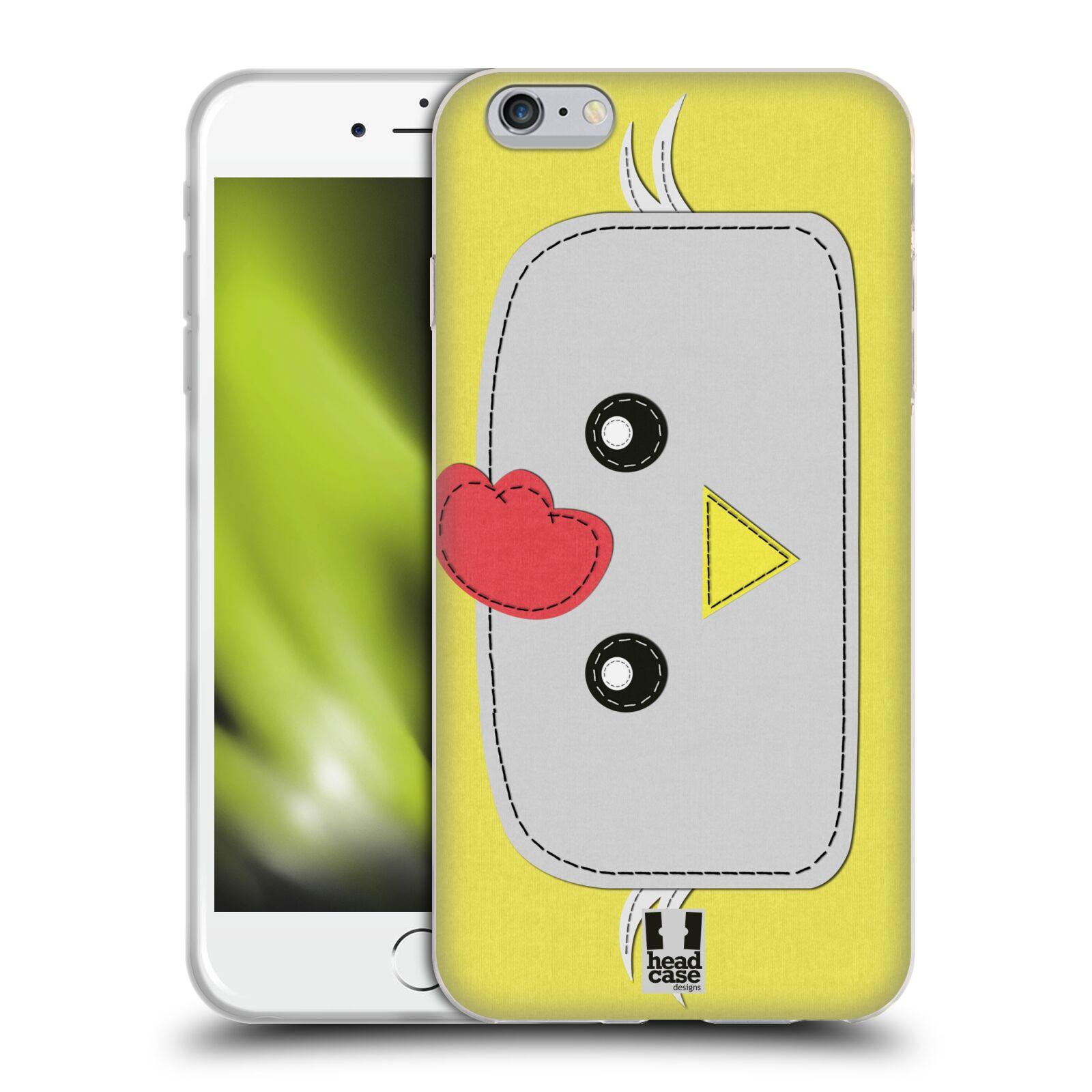 HEAD CASE silikonový obal na mobil Apple Iphone 6 PLUS/ 6S PLUS vzor zvířecí nášivka kuře