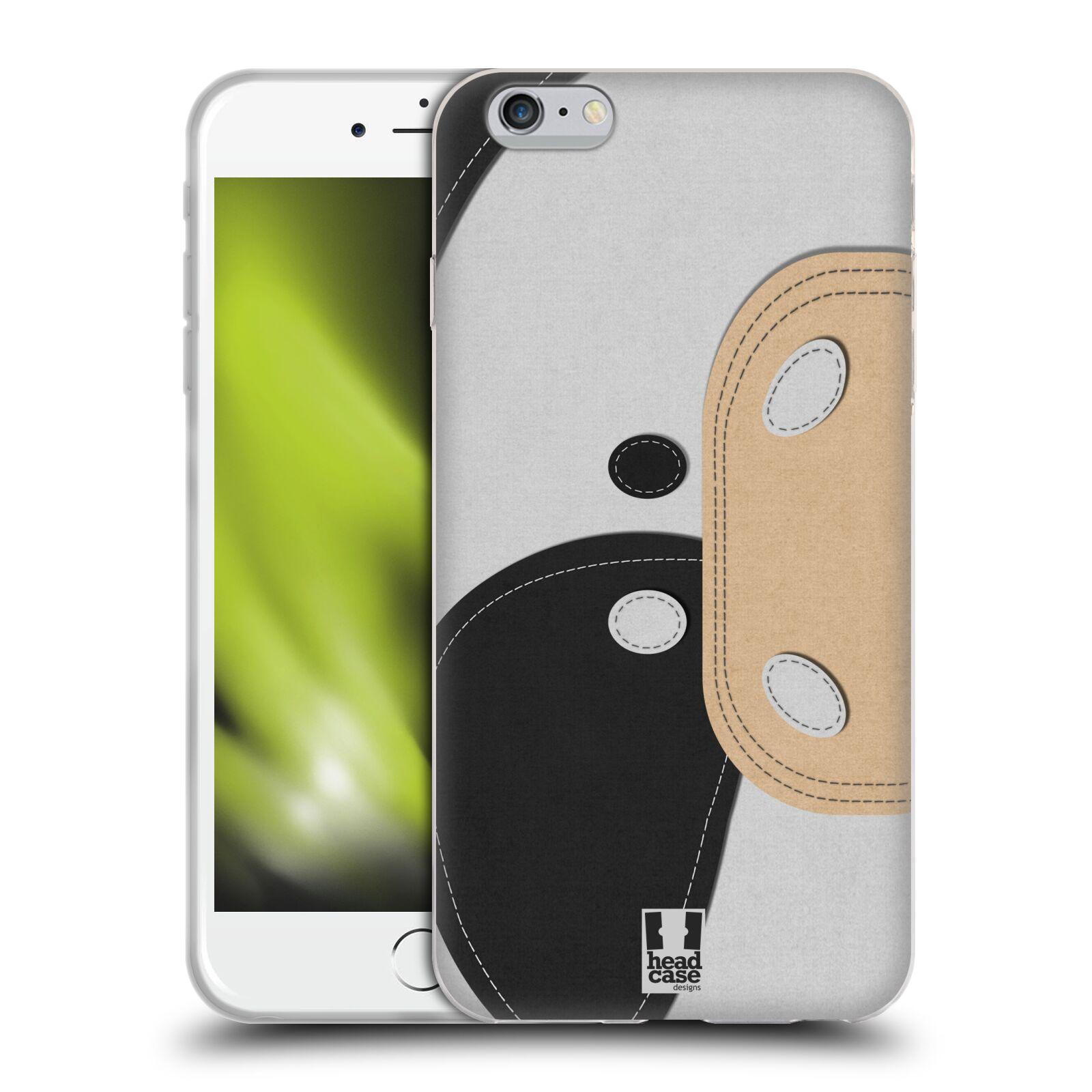 HEAD CASE silikonový obal na mobil Apple Iphone 6 PLUS/ 6S PLUS vzor zvířecí nášivka kráva