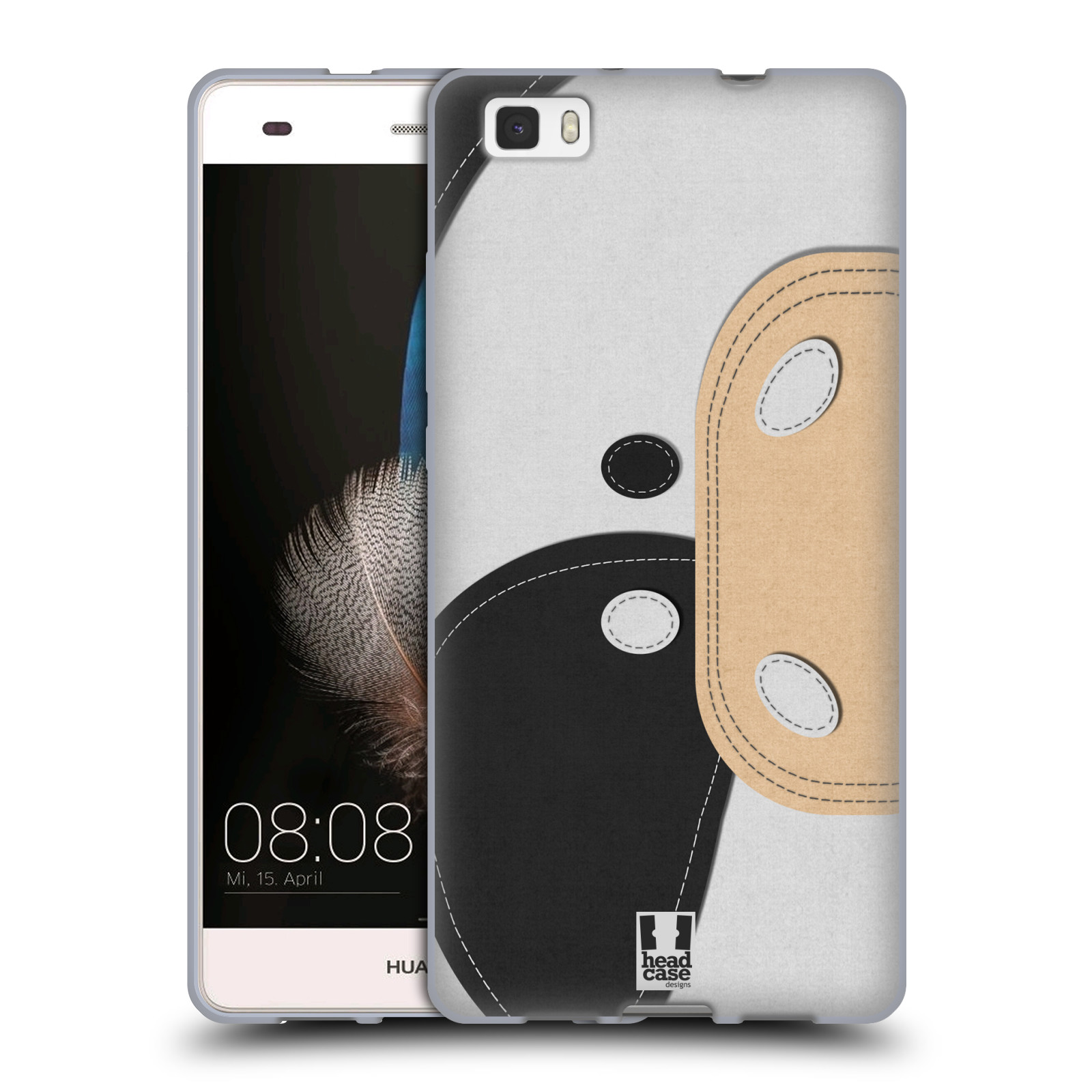 HEAD CASE ANIMAL PATCHES SERIES 1 SOFT GEL CASE FOR HUAWEI P8LITE