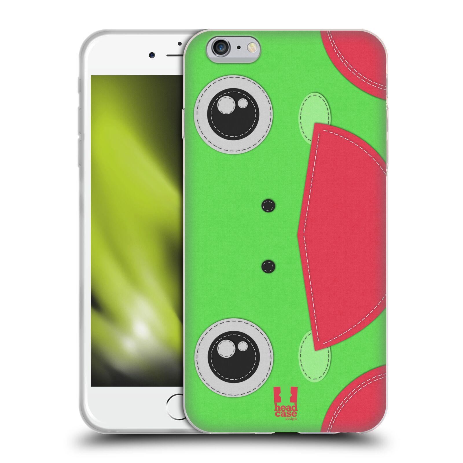HEAD CASE silikonový obal na mobil Apple Iphone 6 PLUS/ 6S PLUS vzor zvířecí nášivka žába