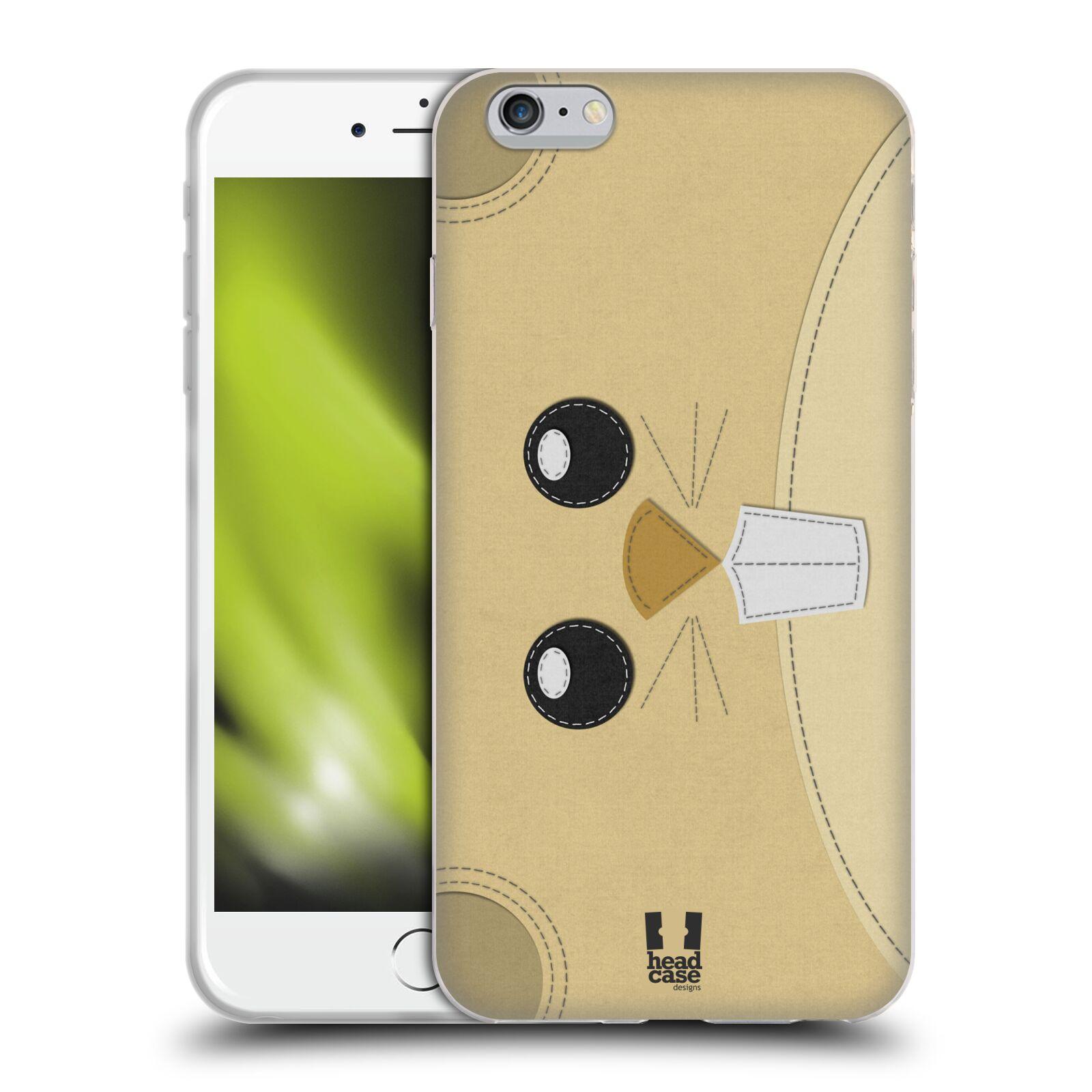 HEAD CASE silikonový obal na mobil Apple Iphone 6 PLUS/ 6S PLUS vzor zvířecí nášivka křeček