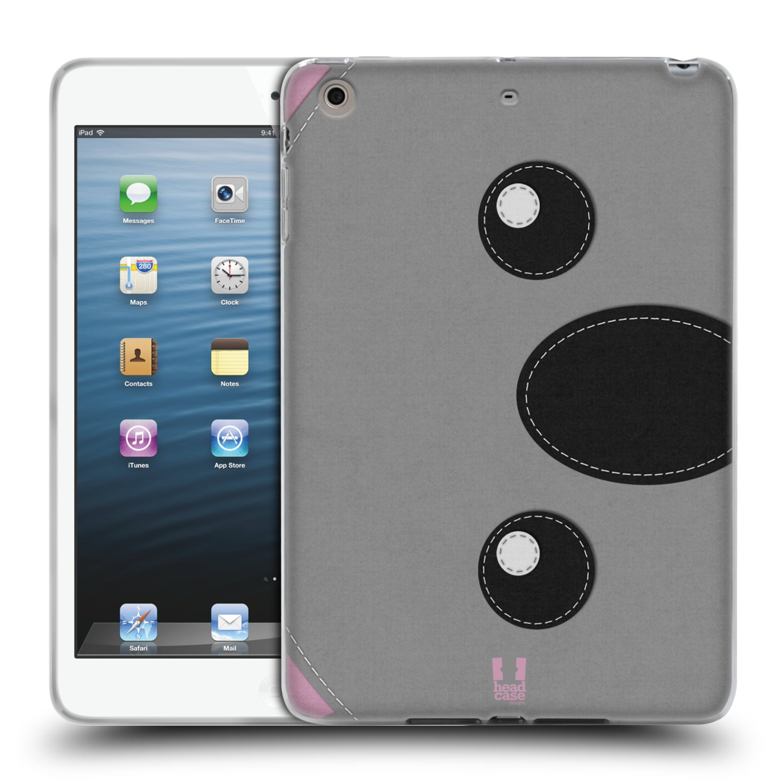 HEAD CASE ANIMAL PATCH SERIES 1 GEL CASE FOR APPLE iPAD MINI 3