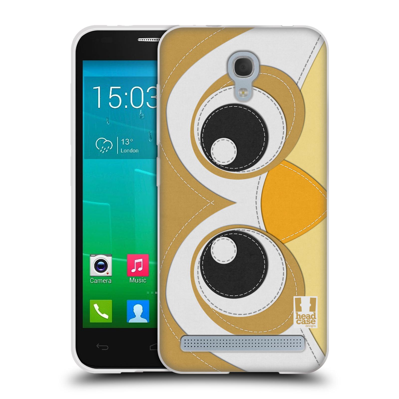 HEAD CASE silikonový obal na mobil Alcatel Idol 2 MINI S 6036Y vzor zvířecí nášivka sovička