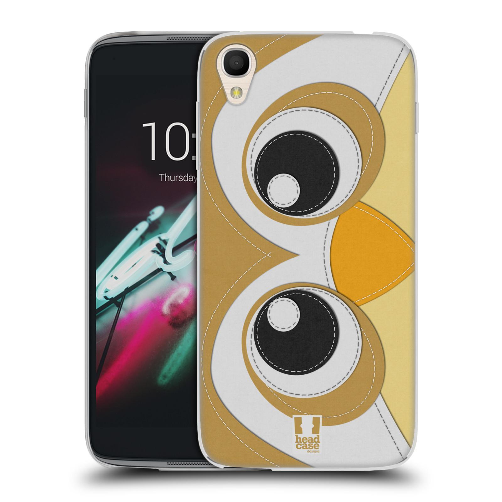 HEAD CASE silikonový obal na mobil Alcatel Idol 3 OT-6039Y (4.7) vzor zvířecí nášivka sovička