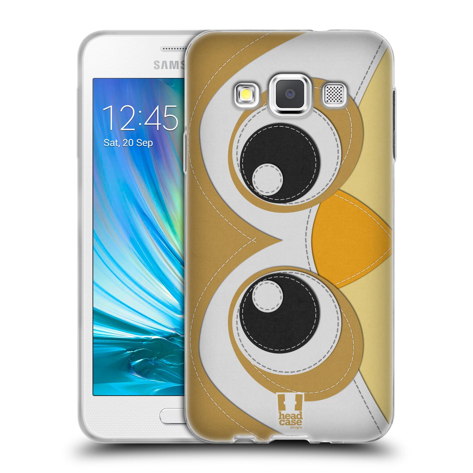 HEAD CASE silikonový obal na mobil Samsung Galaxy A3 vzor zvířecí nášivka sovička