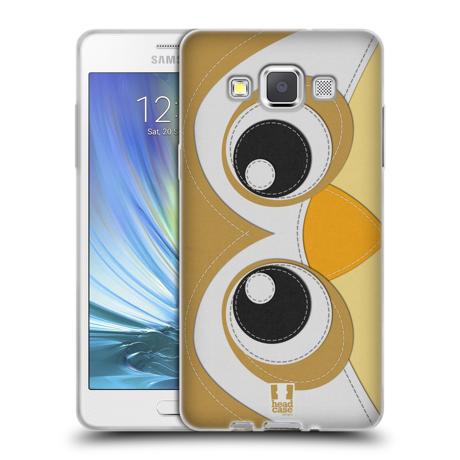 HEAD CASE silikonový obal na mobil Samsung Galaxy A5 vzor zvířecí nášivka sovička